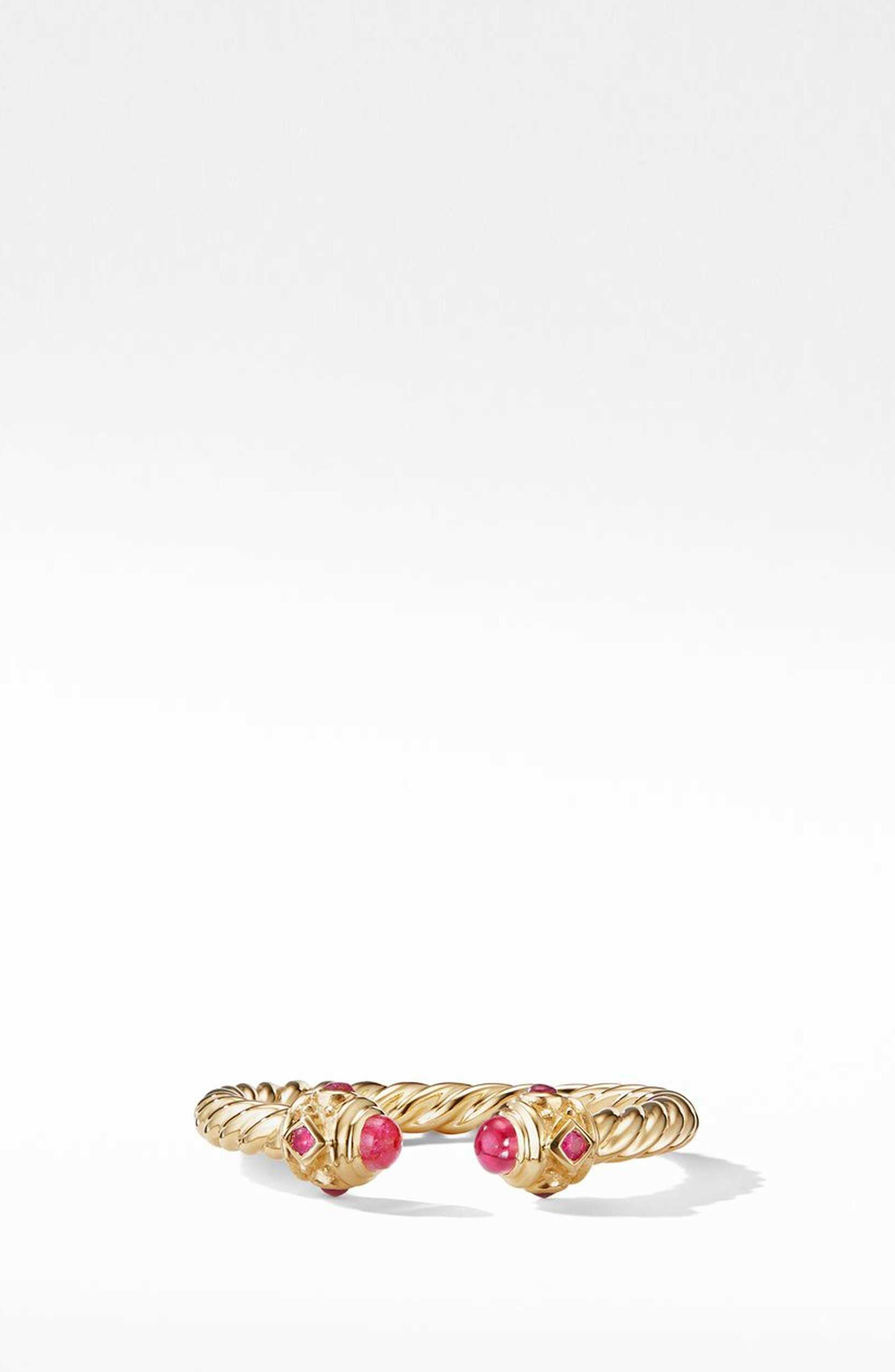 Renaissance Full Pavé Ring in 18K Gold,                             Main thumbnail 1, color,                             RUBY