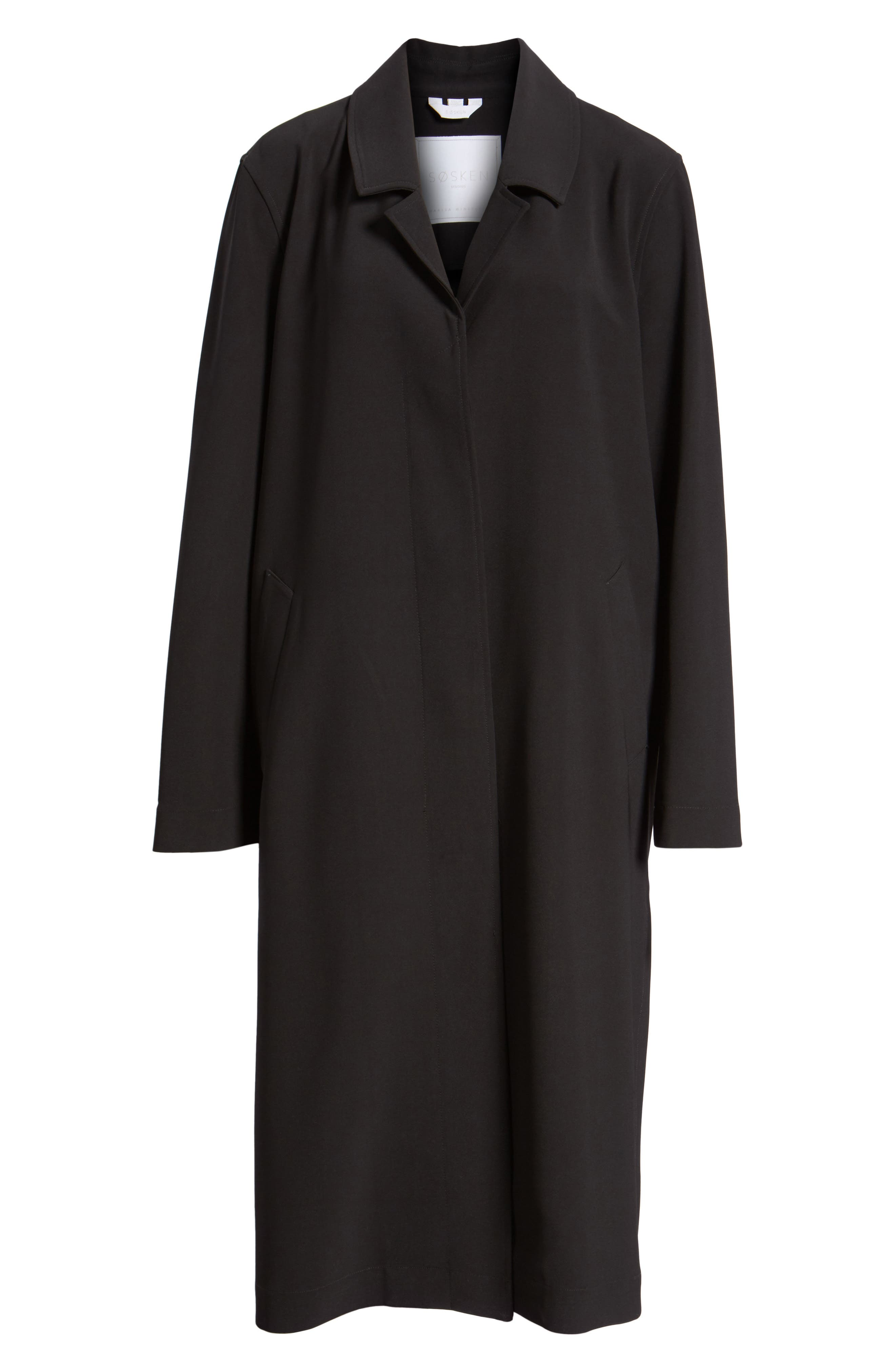 Long Duster Coat,                             Alternate thumbnail 6, color,                             001