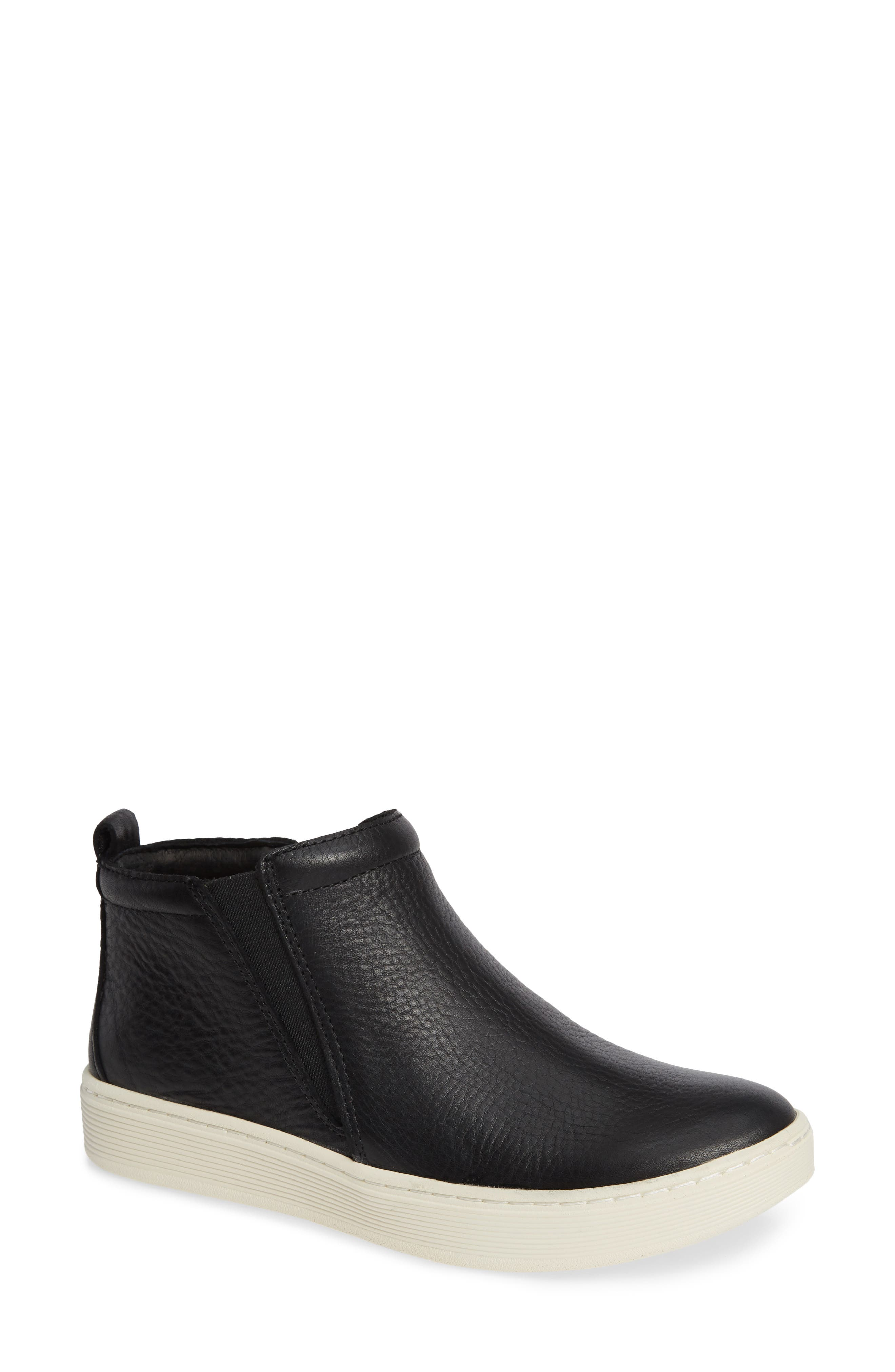 Britton II Waterproof Sneaker Bootie,                             Main thumbnail 1, color,                             BLACK LEATHER