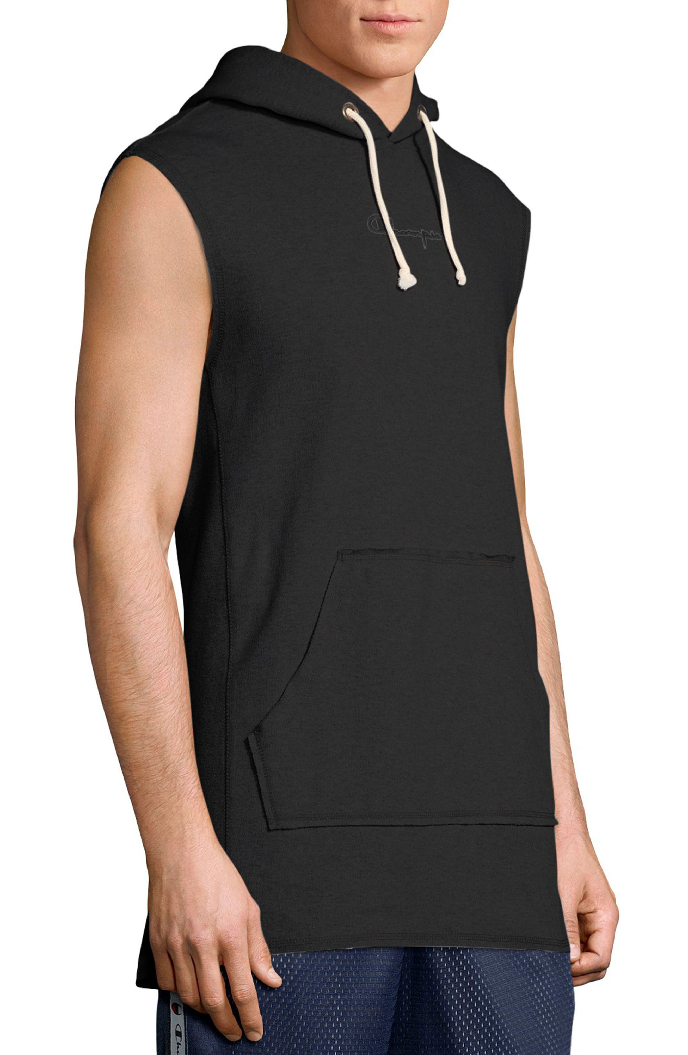 Sleeveless Hoodie,                             Alternate thumbnail 3, color,                             001