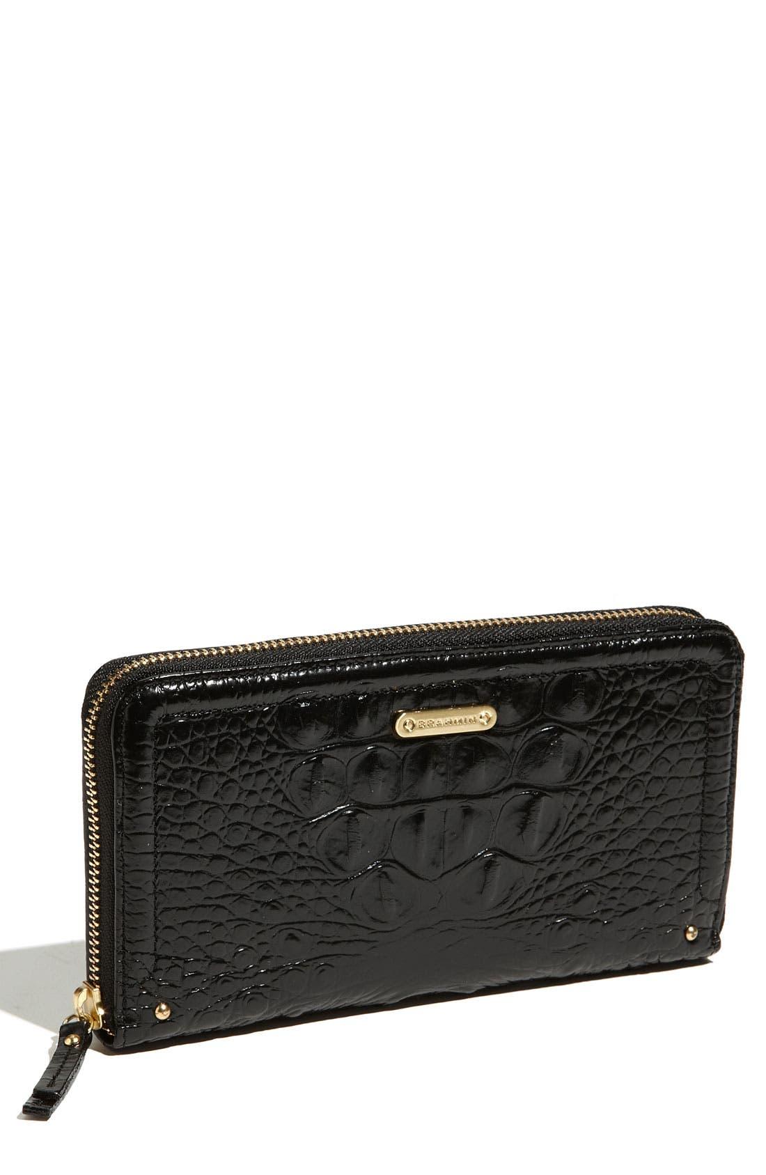 'Suri' Zip Around Wallet,                         Main,                         color, BLACK