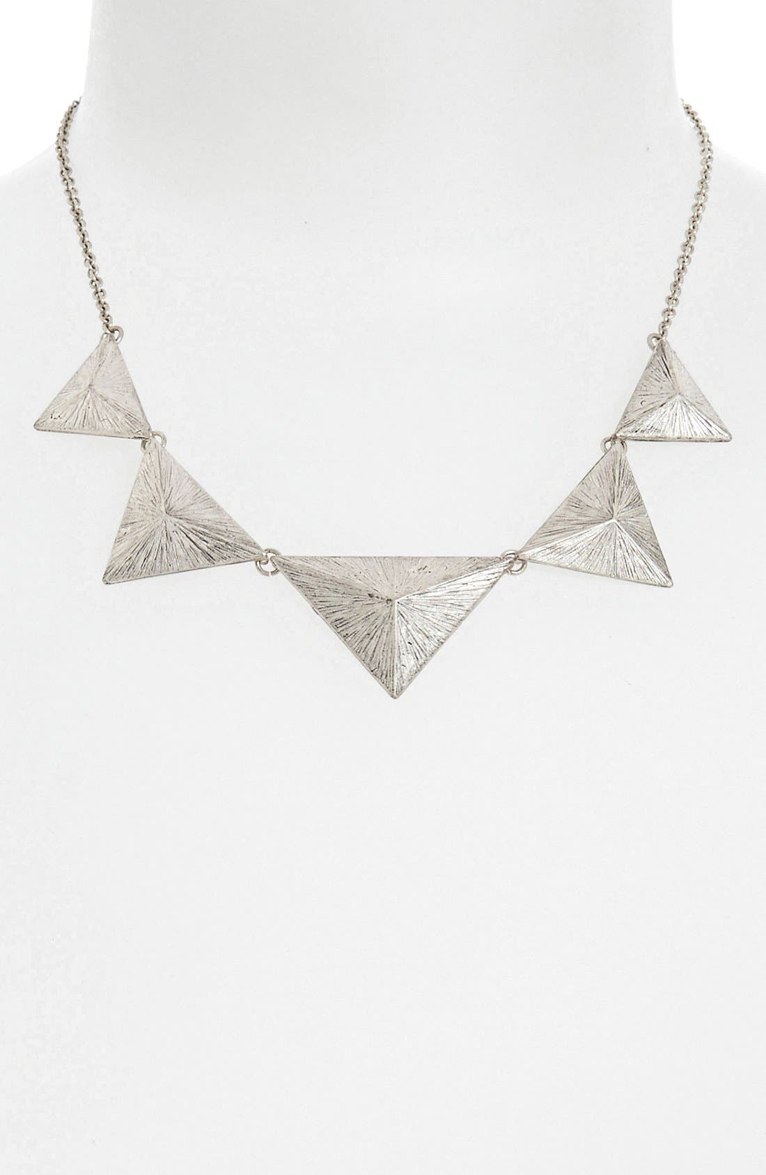 STEPHAN & CO. Pyramid Statement Necklace, Main, color, 020