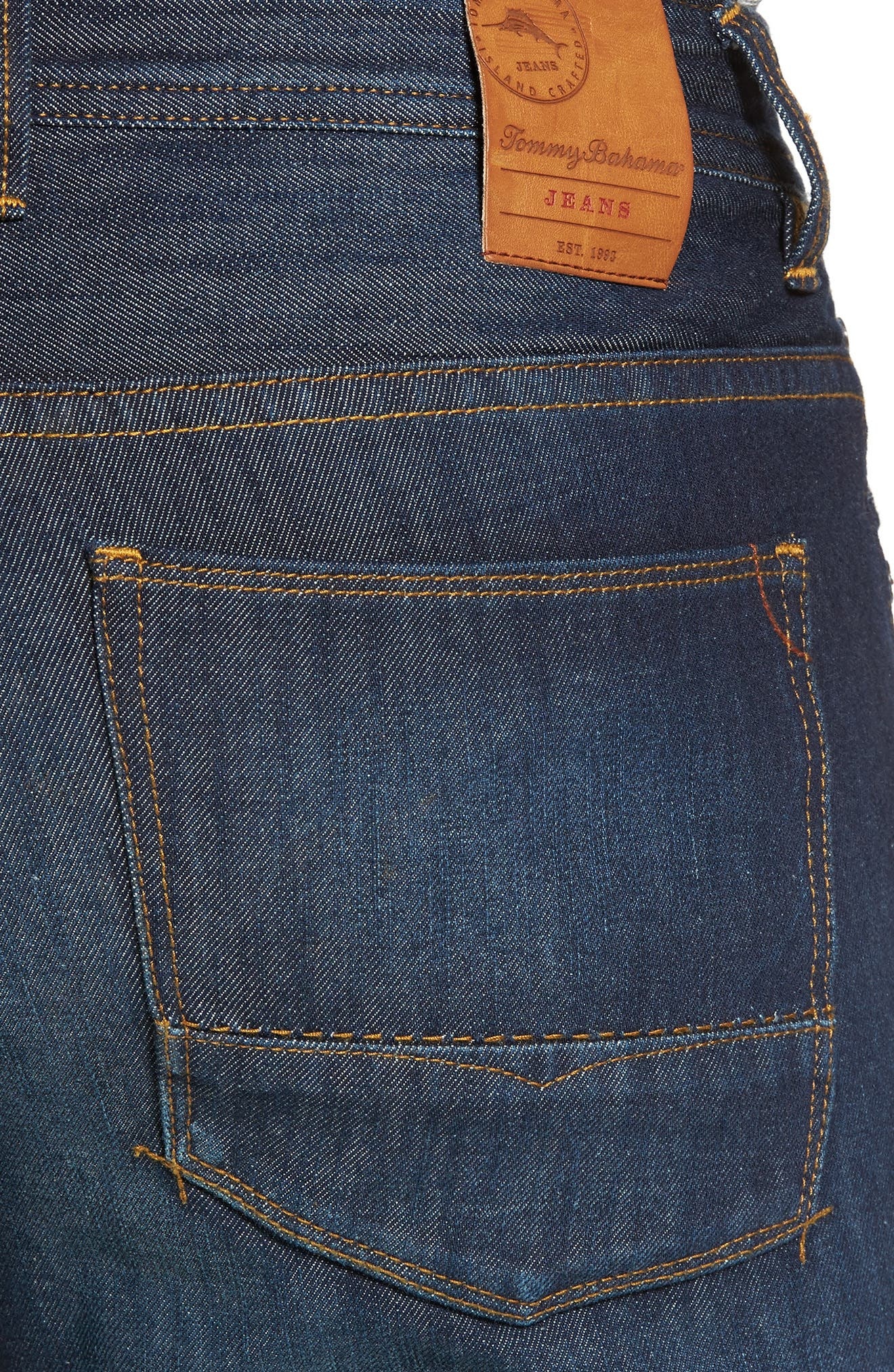 Barbados Straight Leg Jeans,                             Alternate thumbnail 4, color,                             401