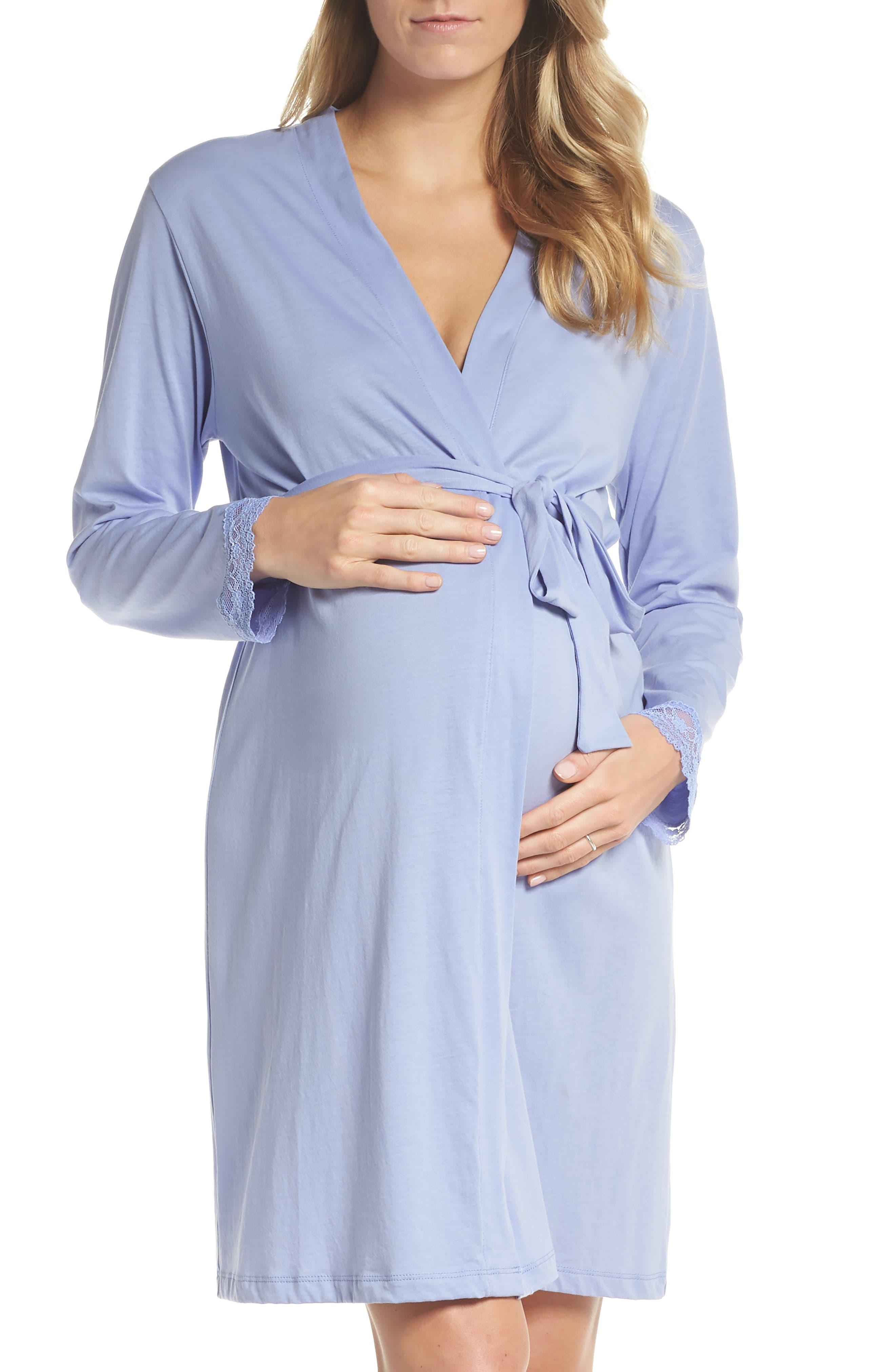 Violette Maternity/Nursing Robe,                             Main thumbnail 1, color,                             PURPLE