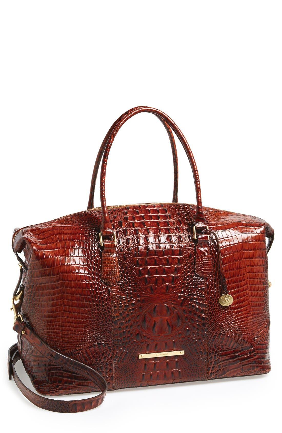 'Duxbury' Leather Travel Bag,                             Main thumbnail 4, color,