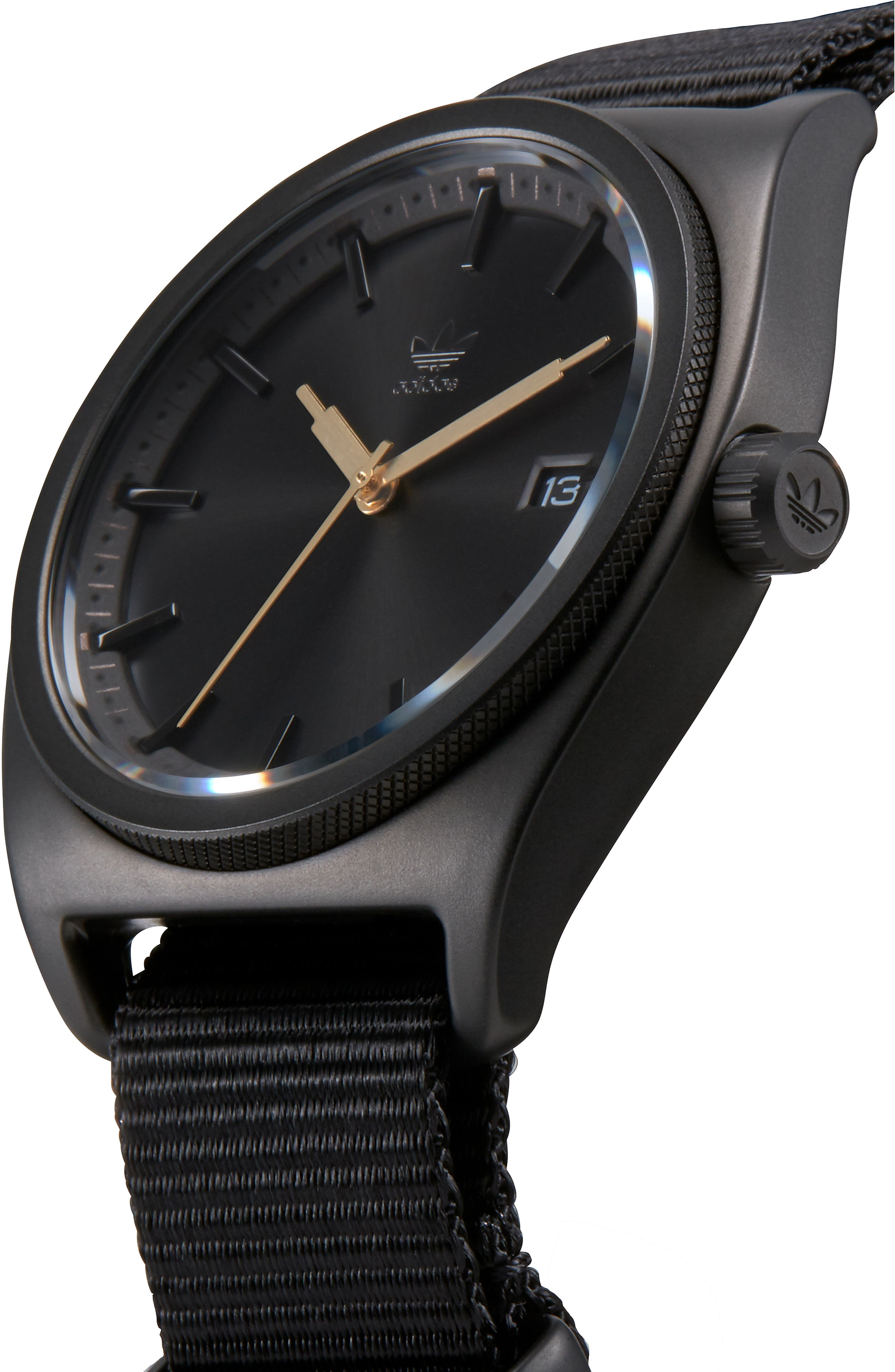 Process Interchangeable Strap Watch, 40mm,                             Alternate thumbnail 6, color,                             BLACK/ TAN