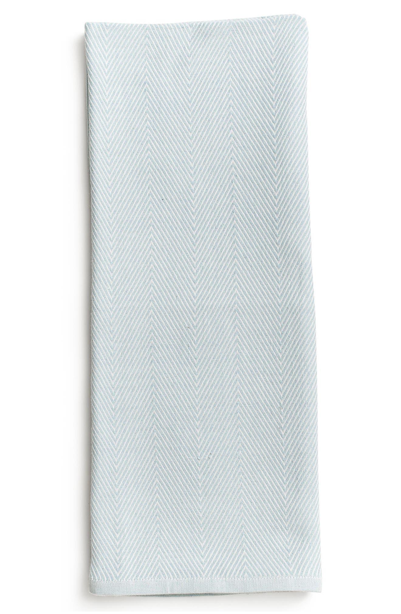 Herringbone Organic Cotton Blanket,                         Main,                         color, 401