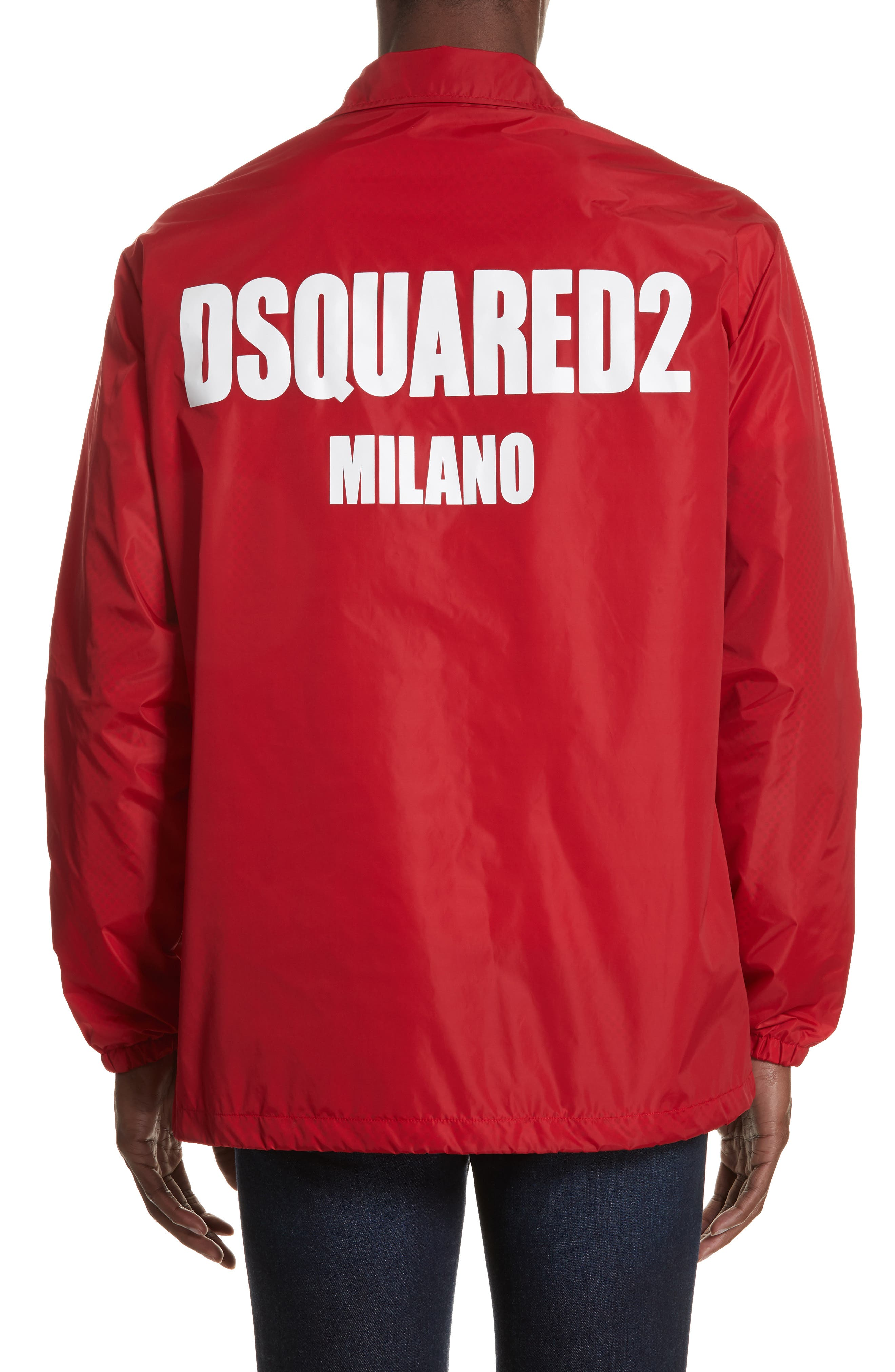 Logo Coachs Jacket,                             Alternate thumbnail 2, color,                             RED