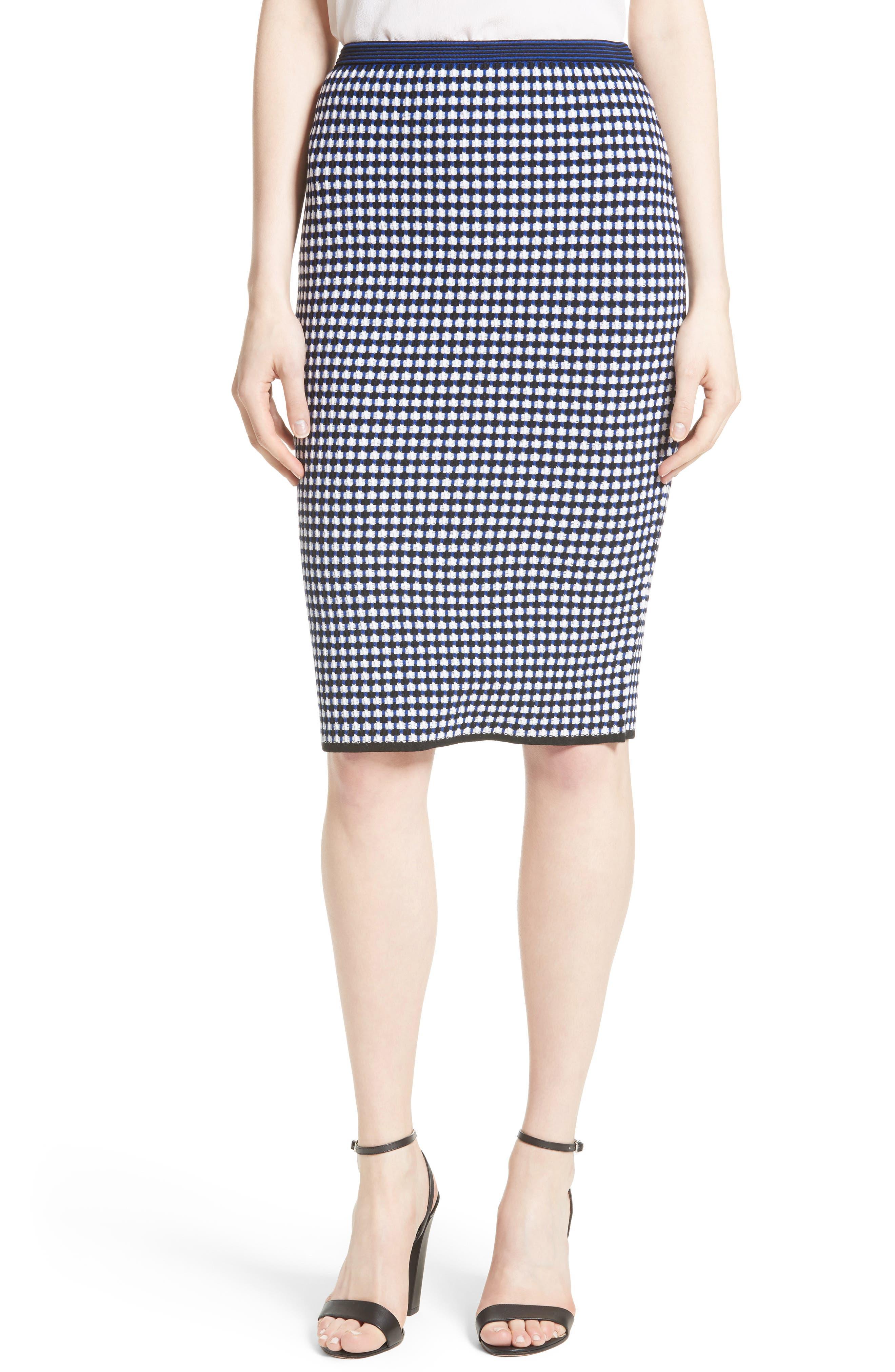 Knit Pencil Skirt,                             Main thumbnail 1, color,                             491