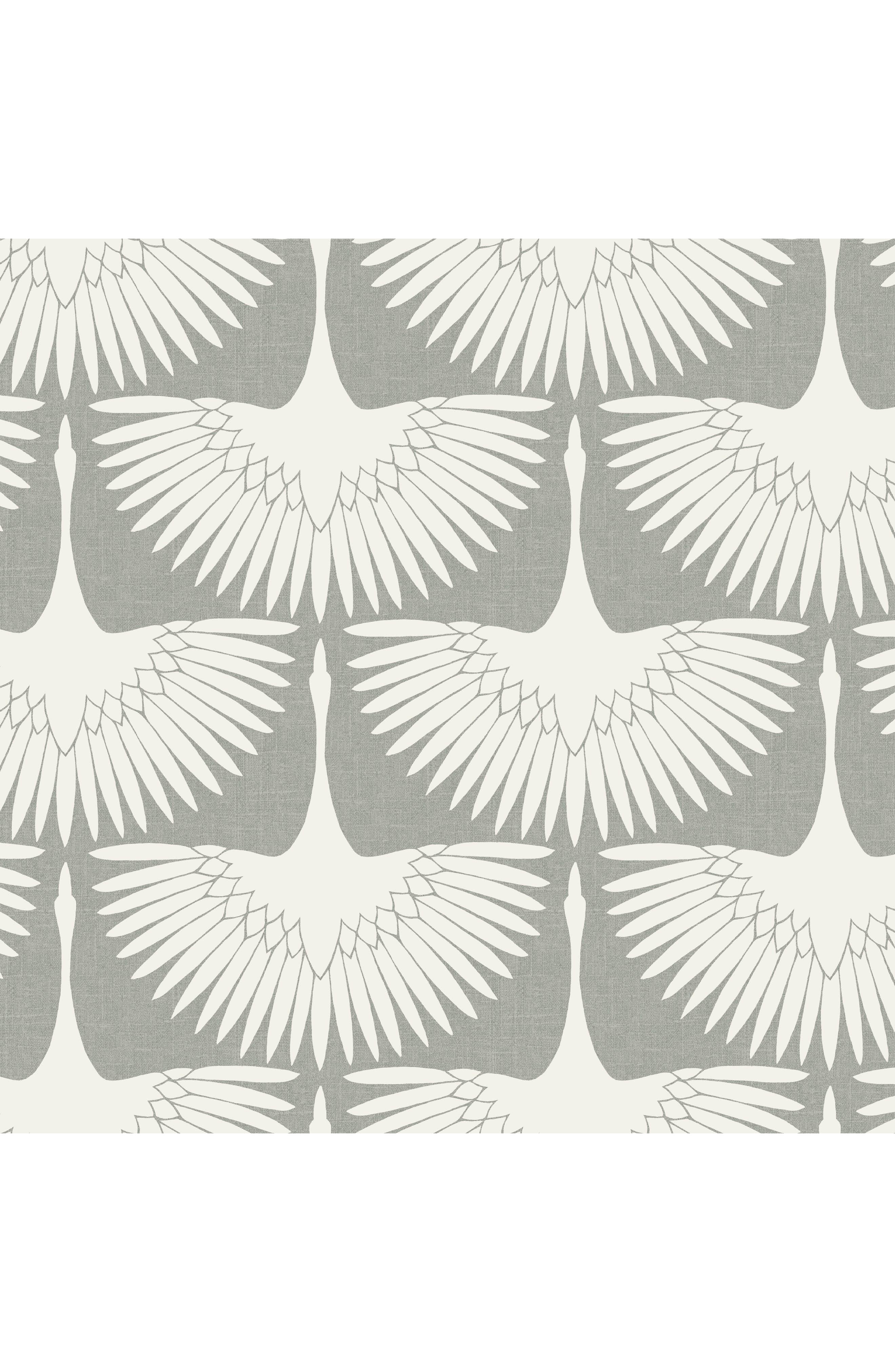 TEMPAPER,                             Feather Flock Vinyl Wallpaper,                             Main thumbnail 1, color,                             900