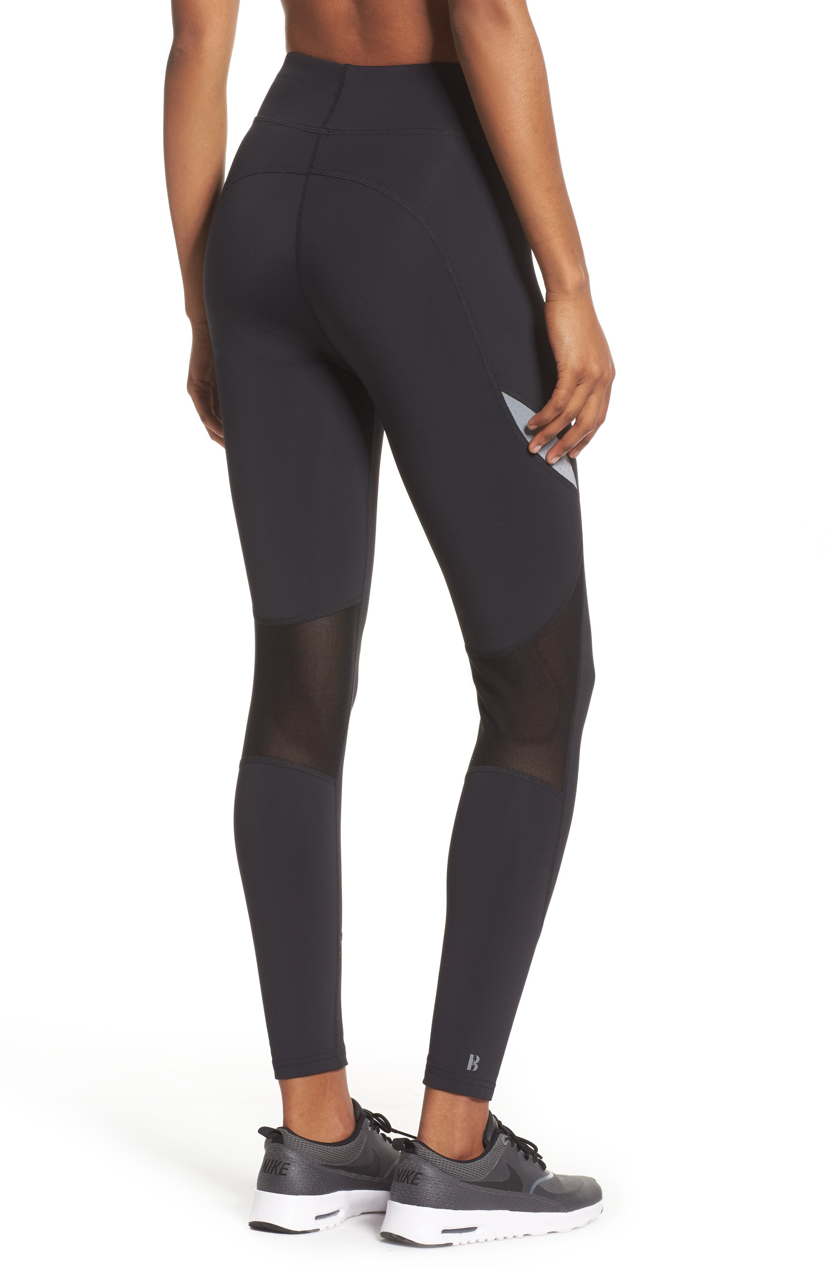 BoomBoom Athletica High Compression Sport Leggings,                             Alternate thumbnail 2, color,                             005