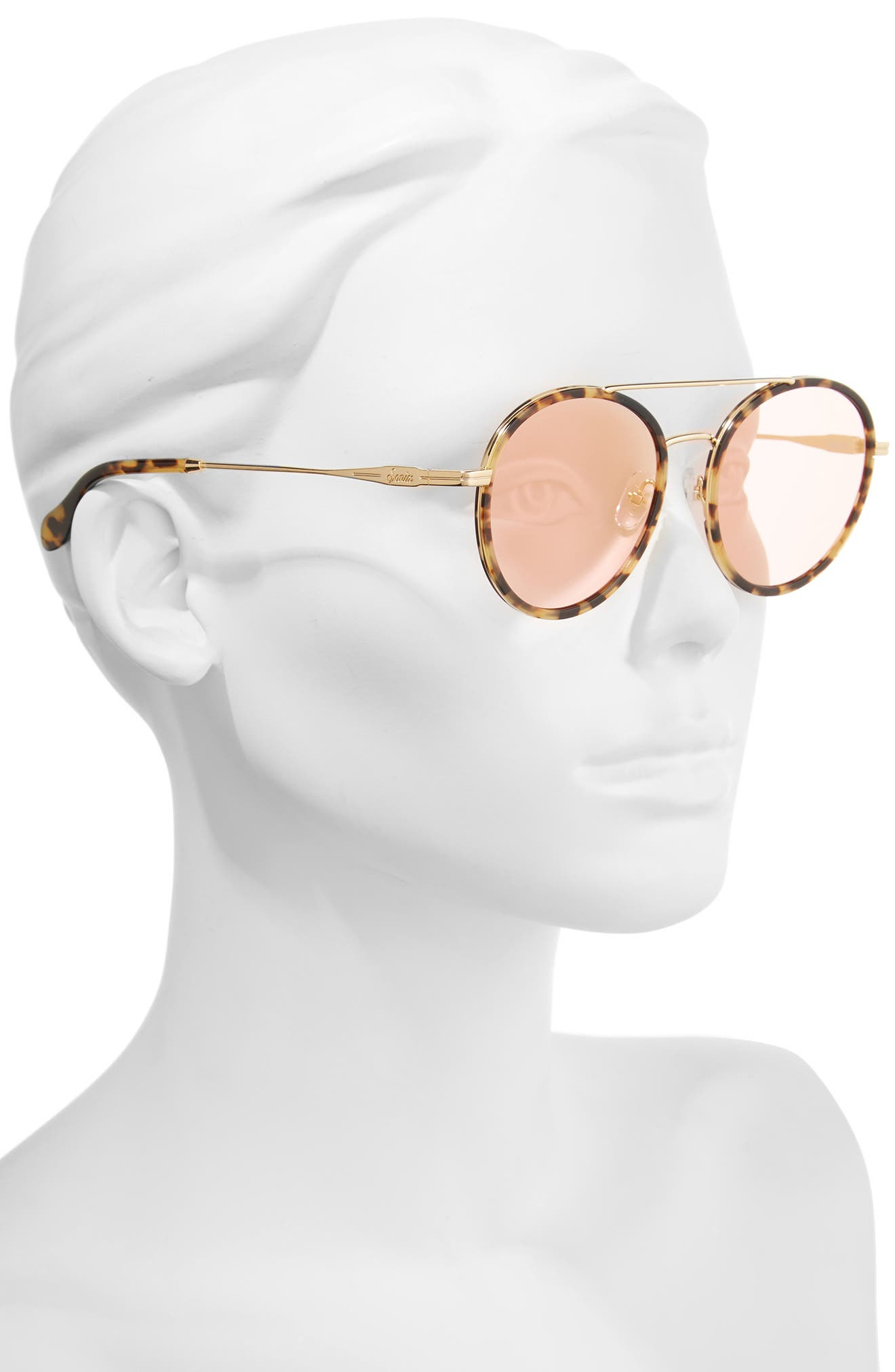 Charli 50mm Mirrored Lens Round Sunglasses,                             Alternate thumbnail 8, color,