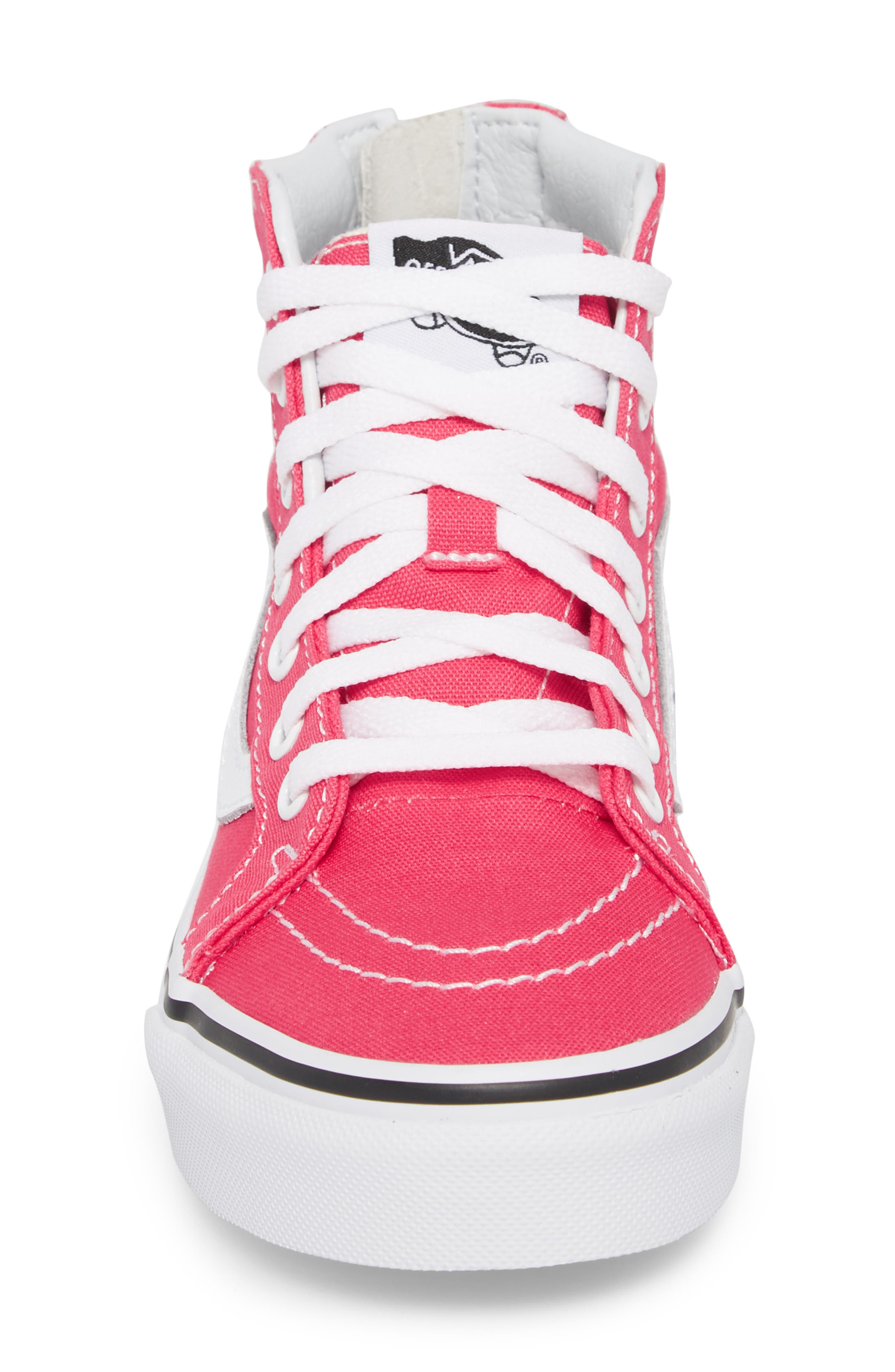 Sk8-Hi Zip Sneaker,                             Alternate thumbnail 4, color,                             AZALEA/ TRUE WHITE