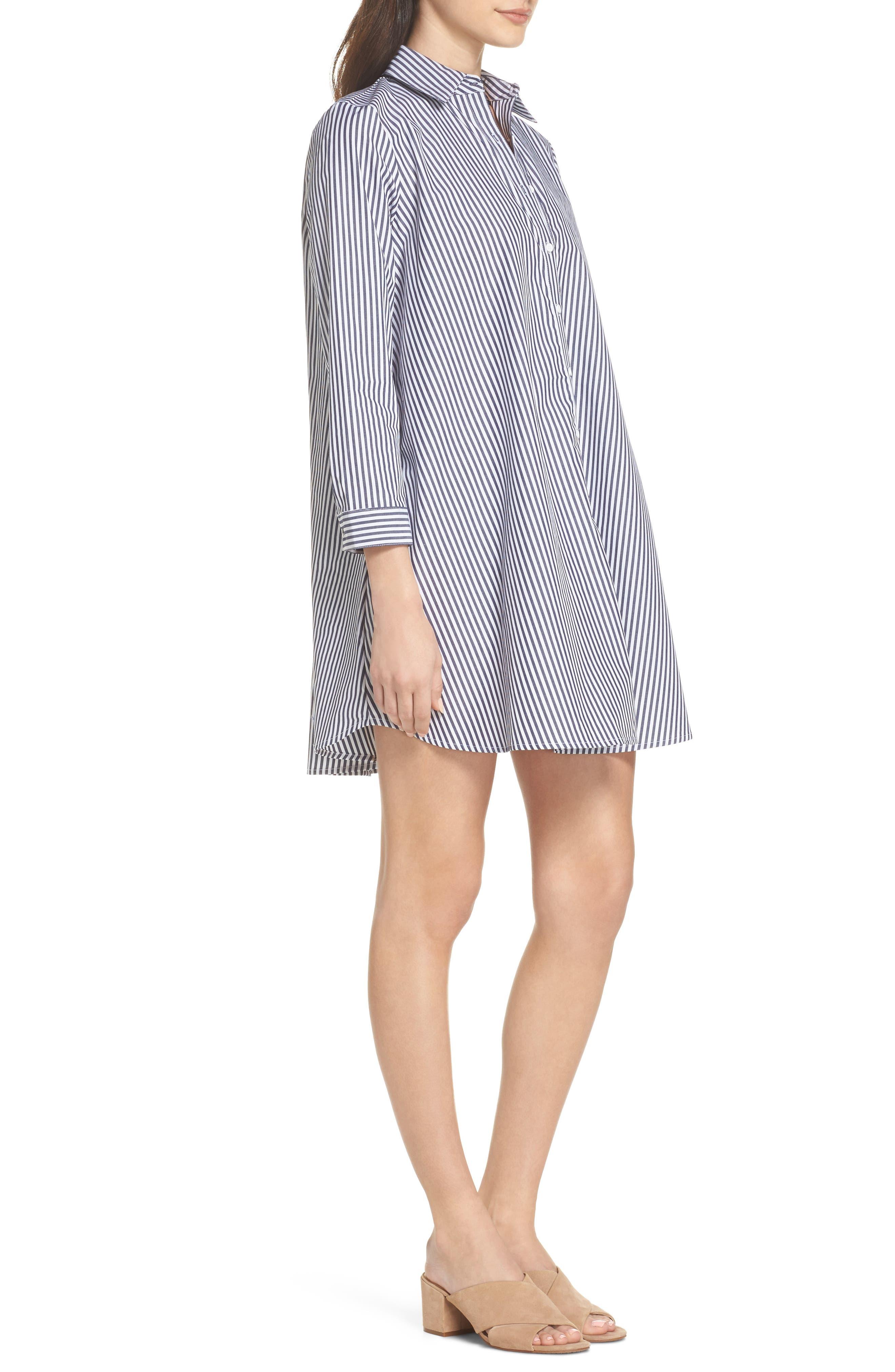 Olsen Stripe Shirtdress,                             Alternate thumbnail 3, color,