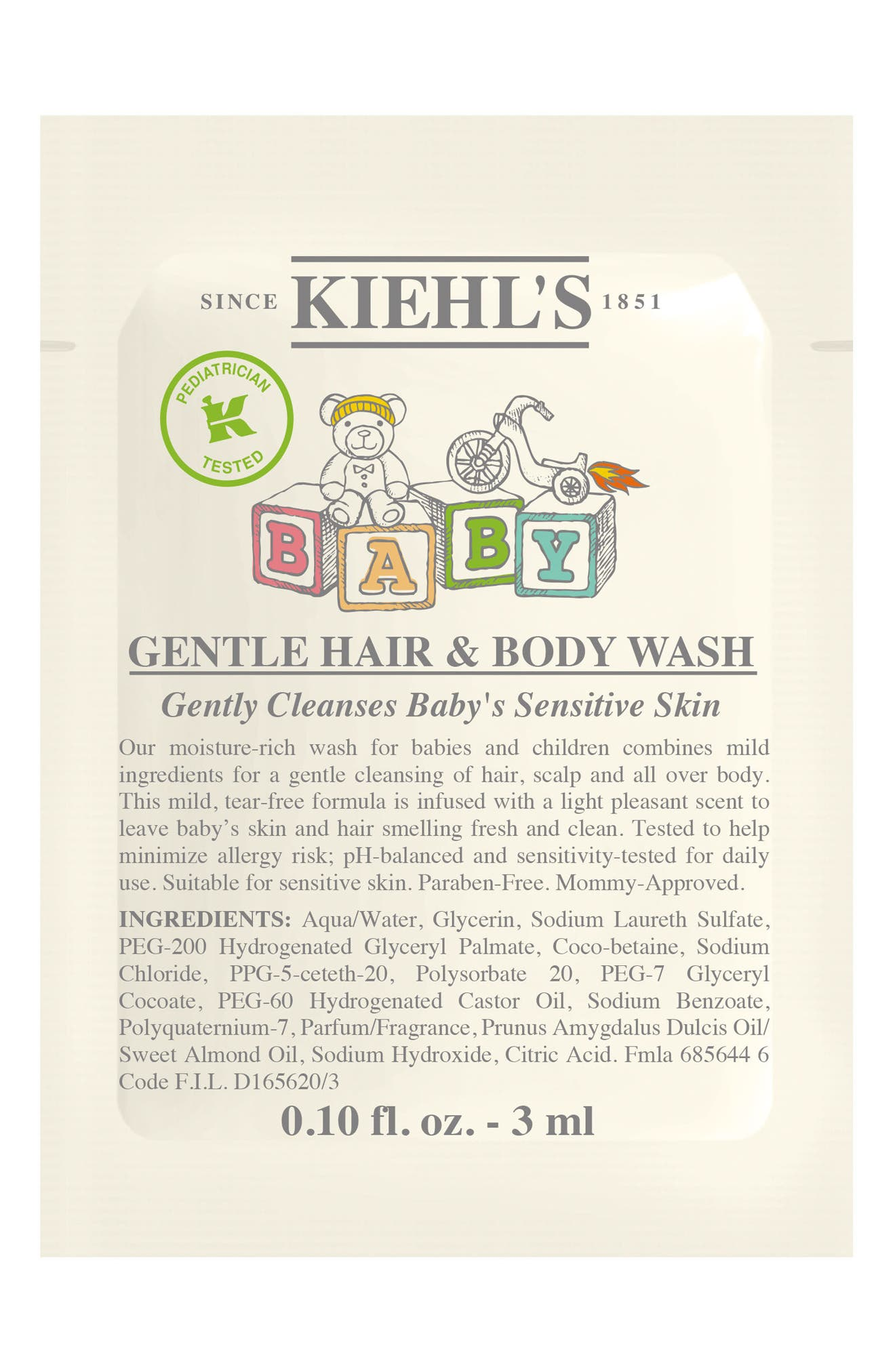 Baby Gentle Hair & Body Wash,                             Alternate thumbnail 2, color,                             NO COLOR