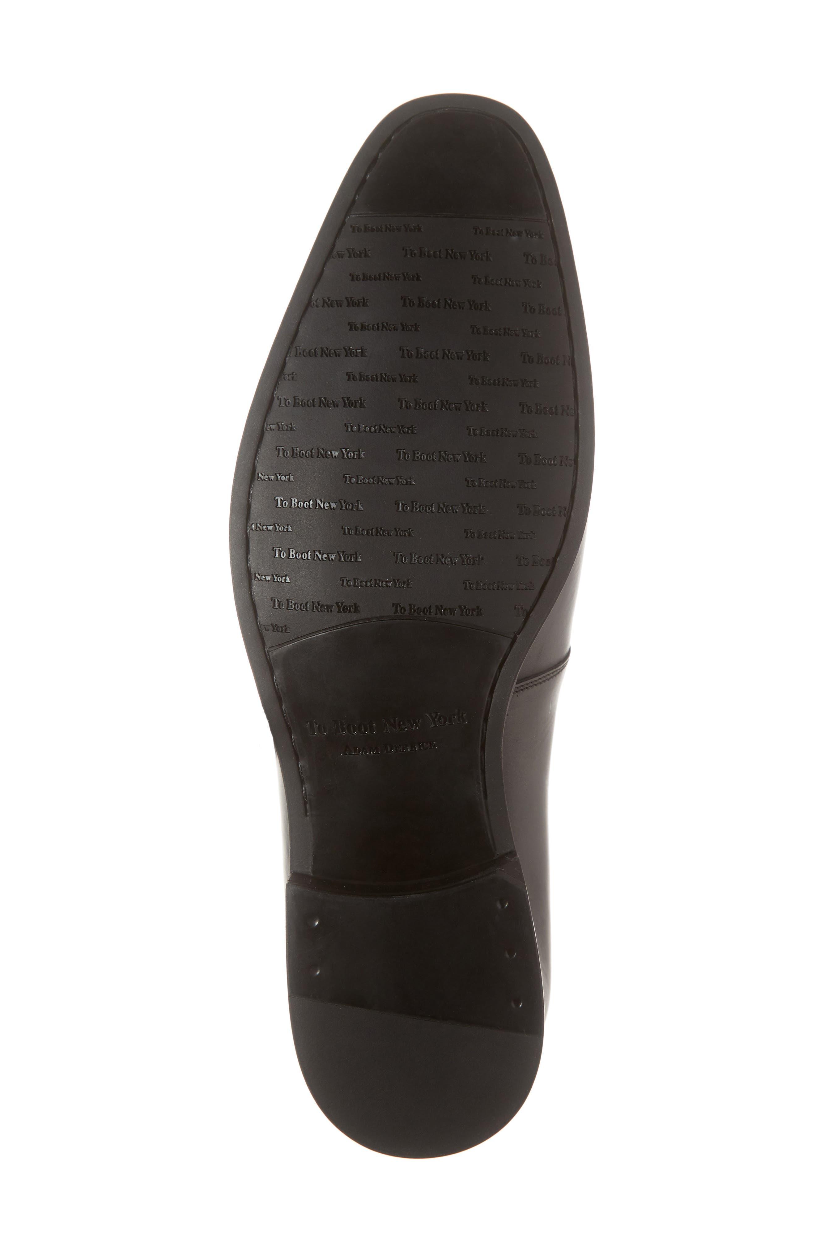 Scarpa Monk Strap Shoe,                             Alternate thumbnail 6, color,                             BLACK LEATHER