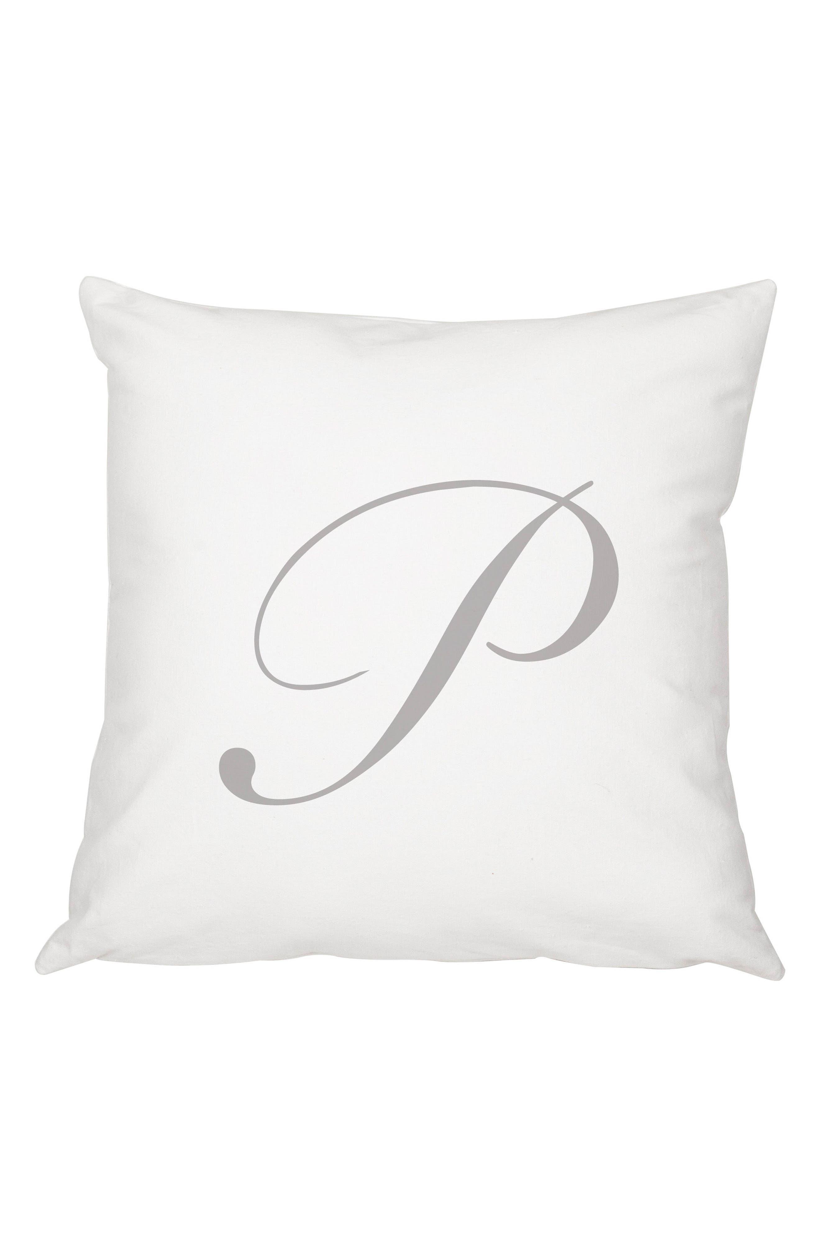 Script Monogram Accent Pillow,                             Main thumbnail 16, color,