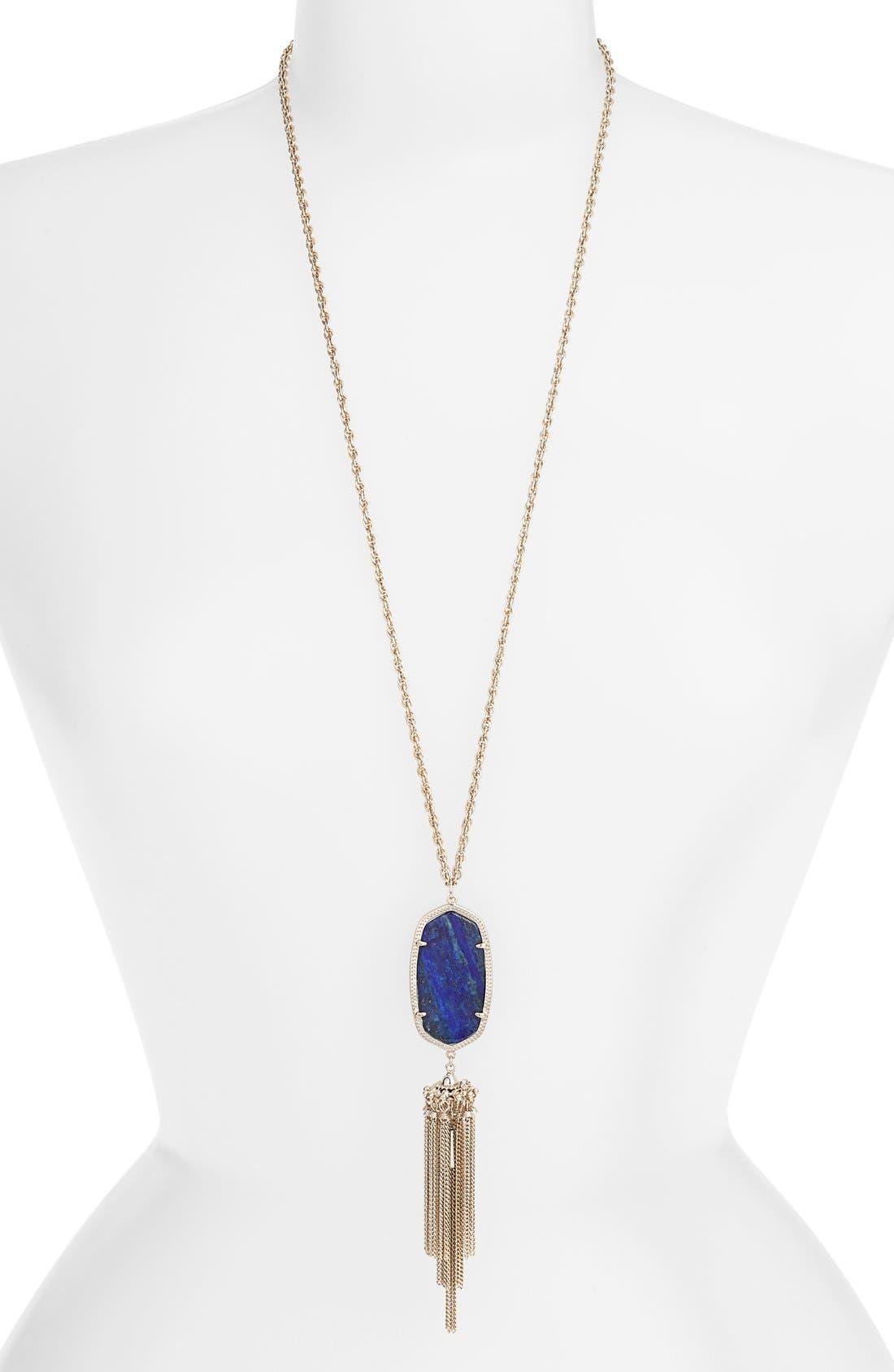 Rayne Stone Tassel Pendant Necklace,                             Main thumbnail 43, color,