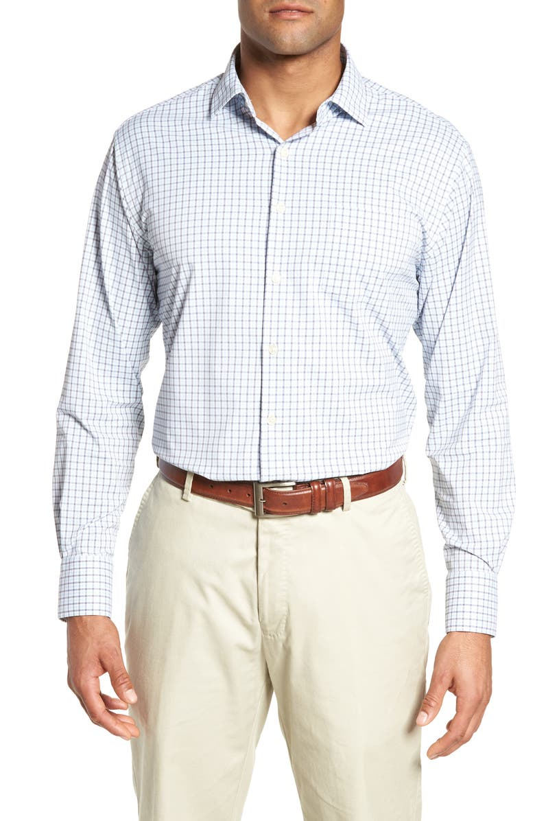 Peter Millar Check It Athletic Fit Performance Sport Shirt Nordstrom