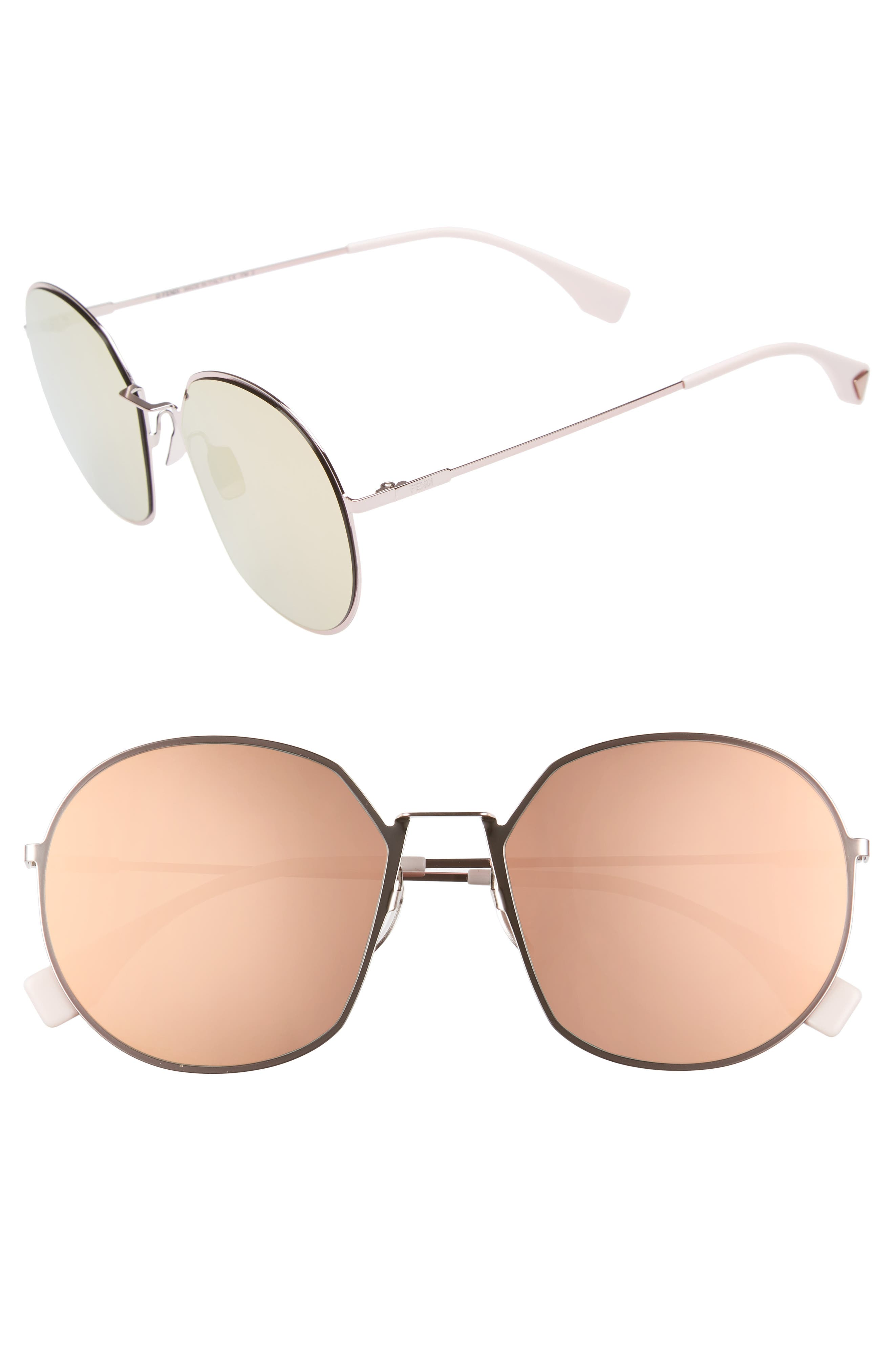 59mm Round Special Fit Sunglasses,                             Main thumbnail 3, color,