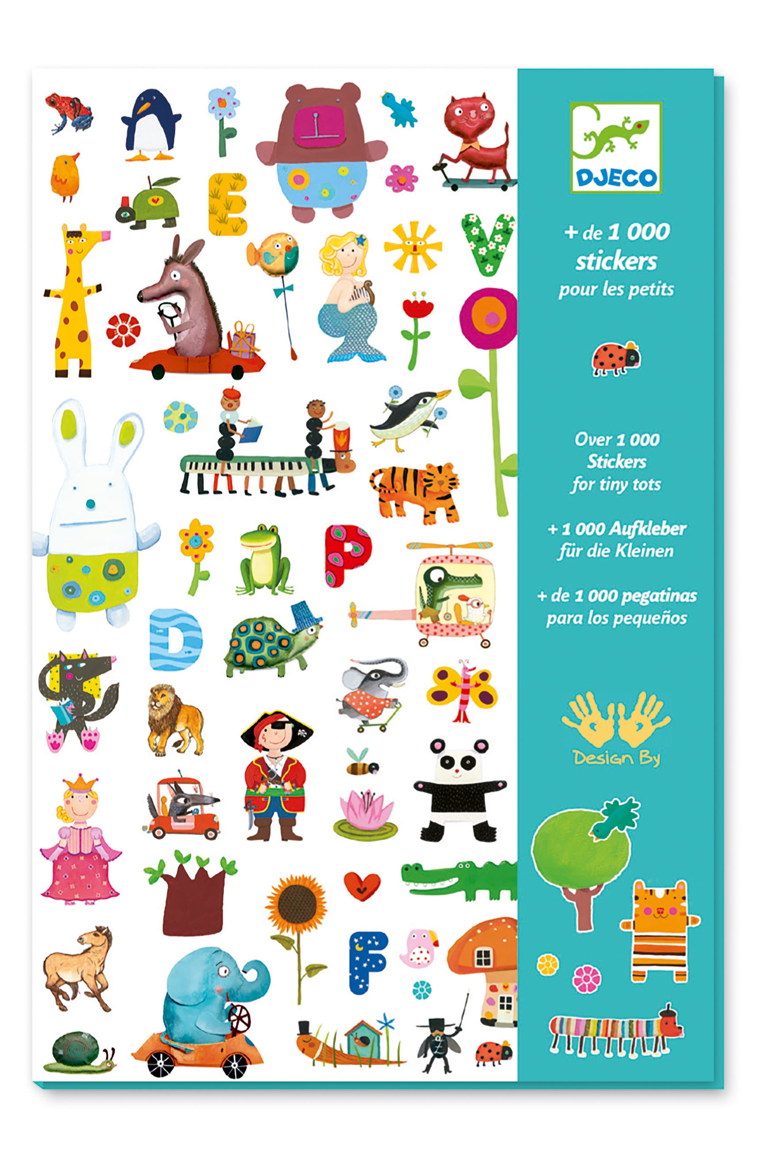 Over 1,000 Stickers for Tiny Tots Sticker Collection,                             Alternate thumbnail 3, color,                             100