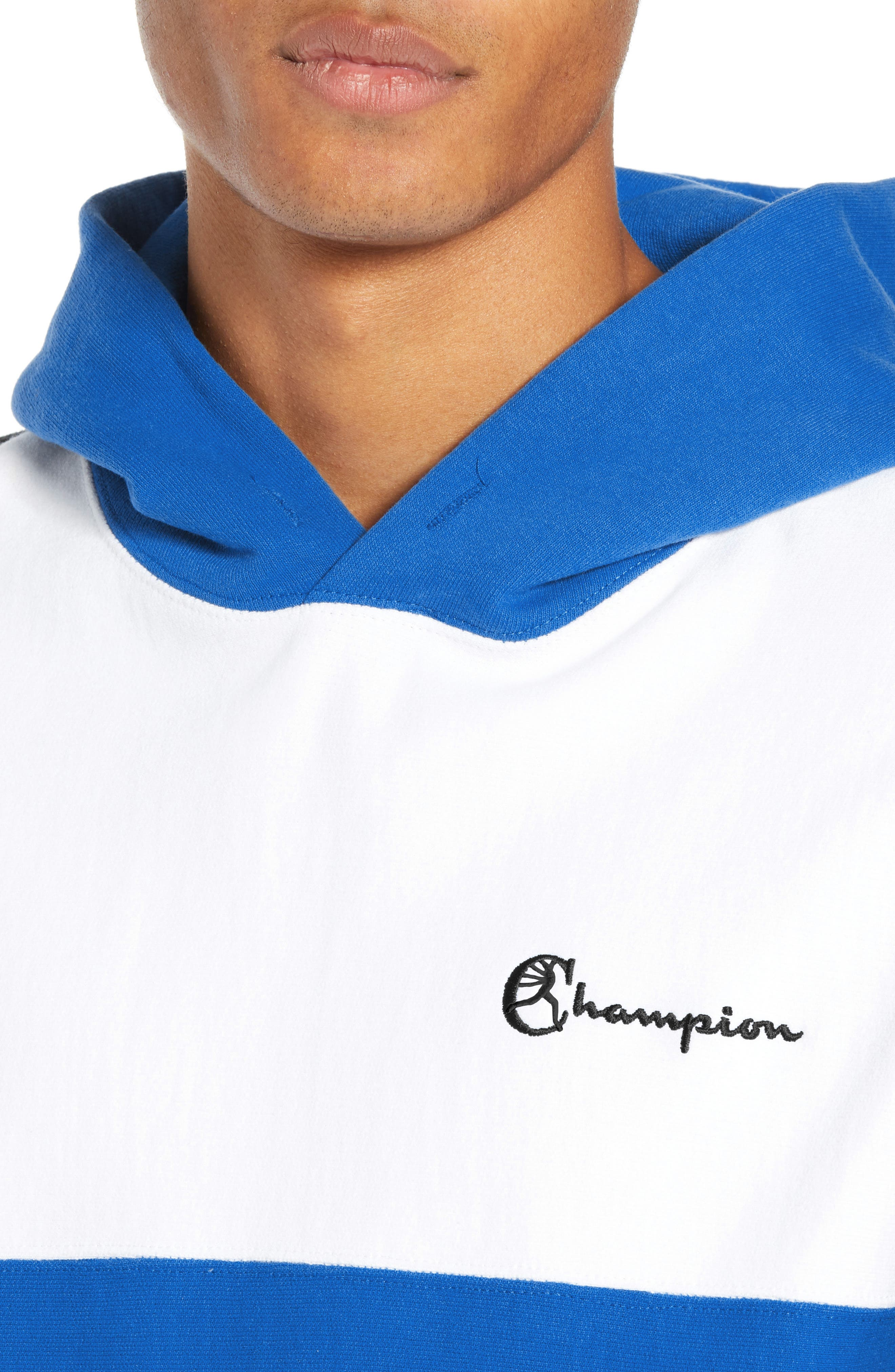 Regular Fit Colorblock Hoodie,                             Alternate thumbnail 4, color,                             BLUE