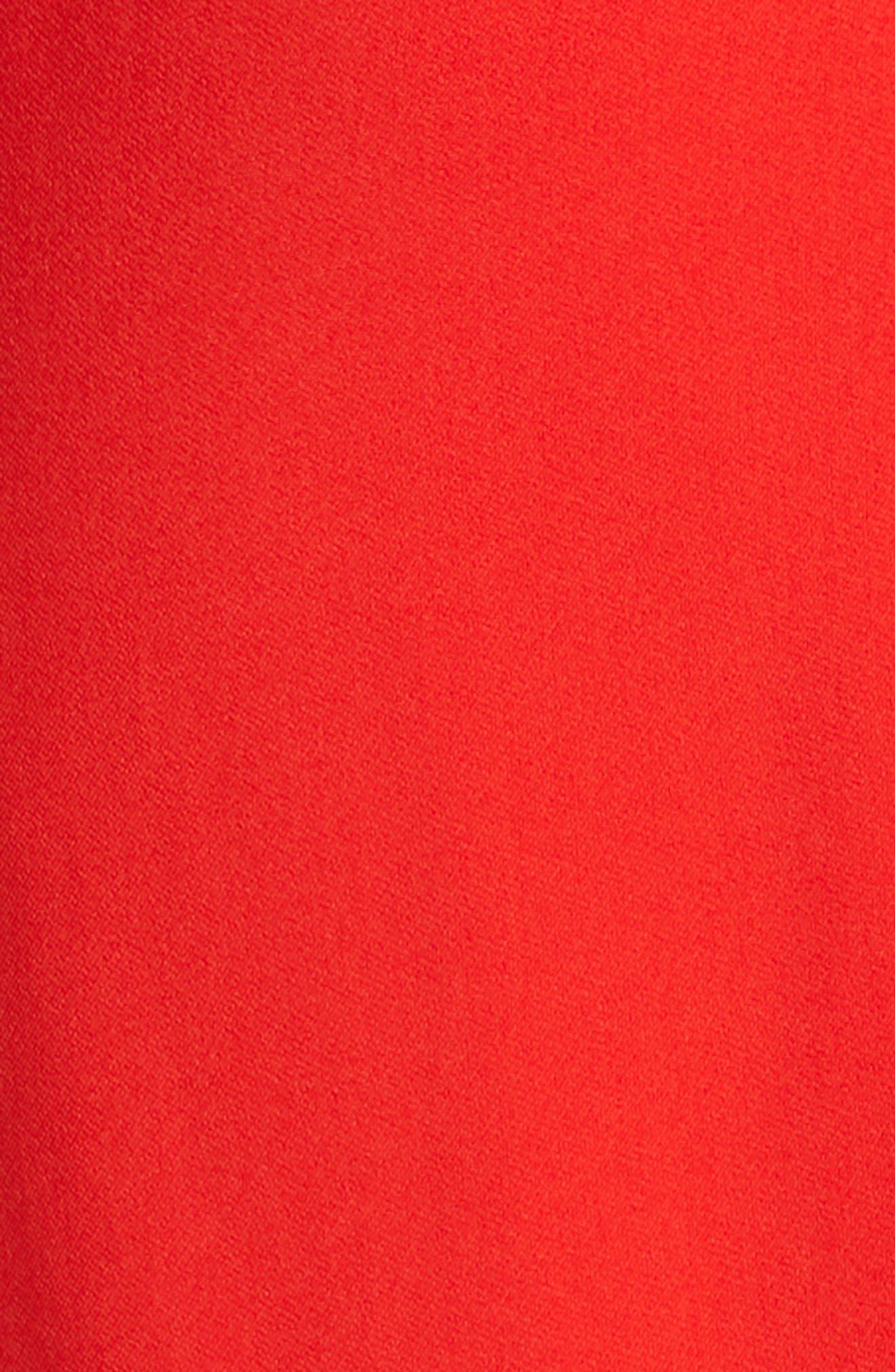 Ruby Cutout Sheath Gown,                             Alternate thumbnail 5, color,                             SCARLET