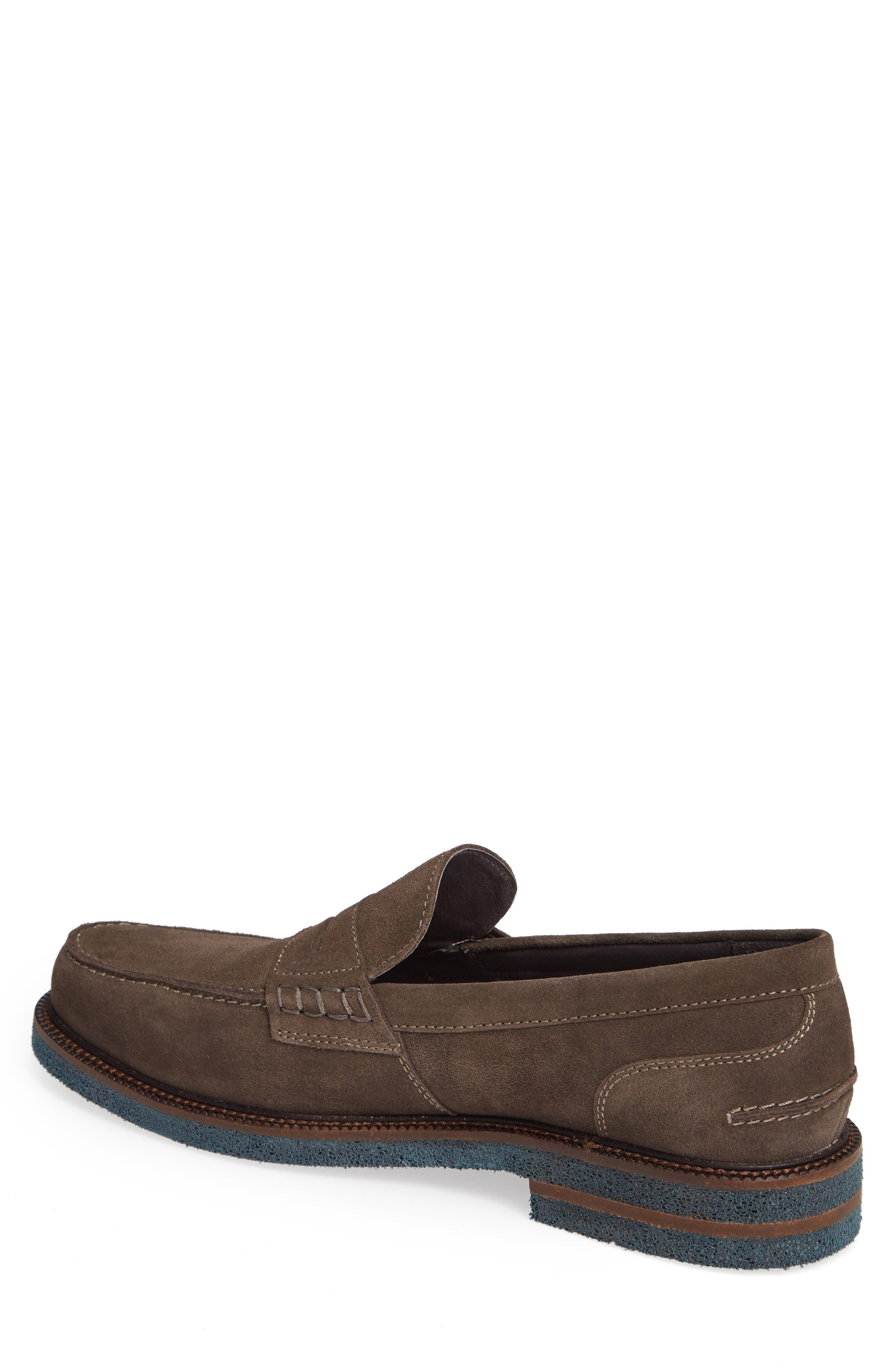 Landry Penny Loafer,                             Alternate thumbnail 2, color,                             GREY SUEDE