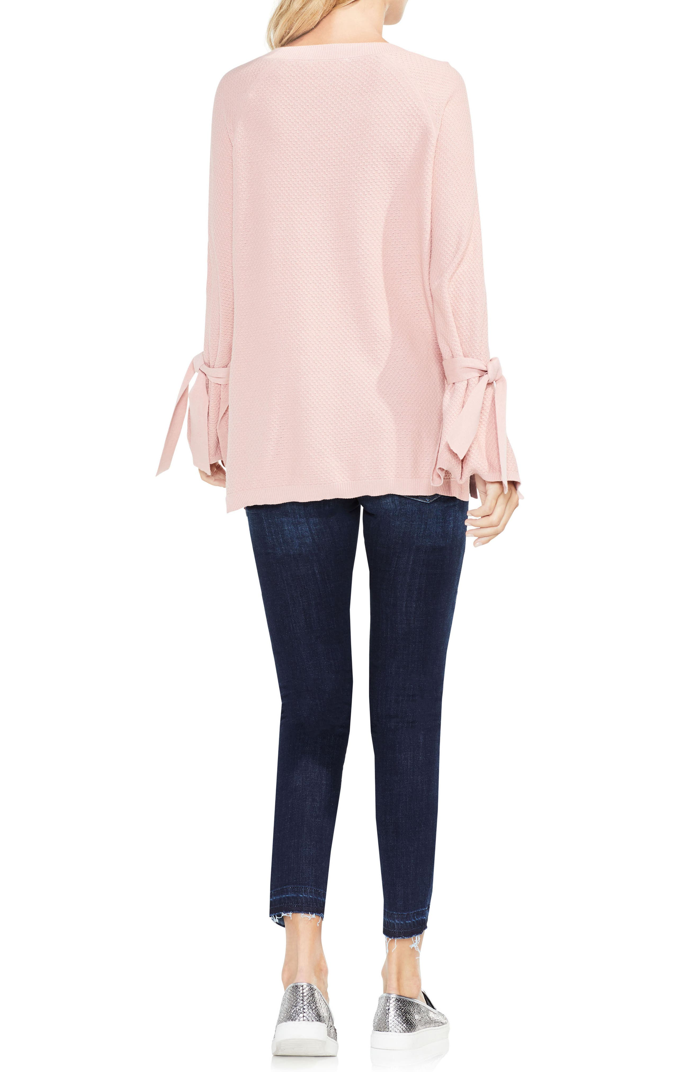 Texture Stitch Tie-Sleeve Top,                             Alternate thumbnail 11, color,