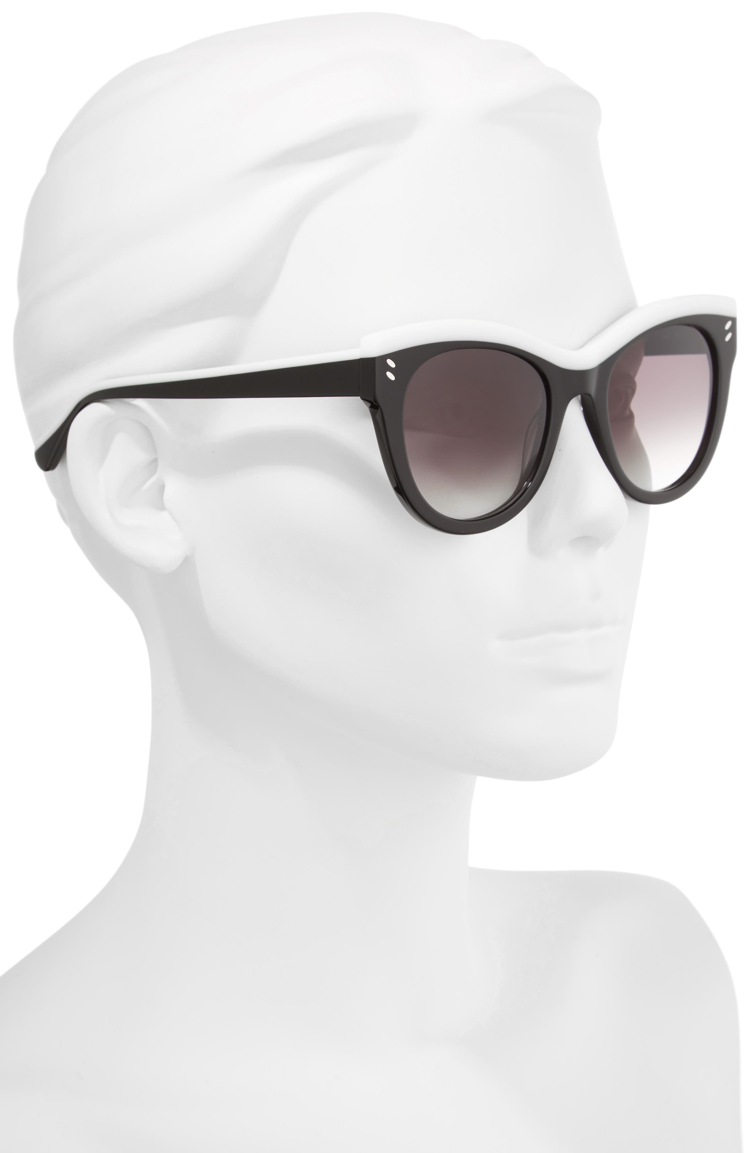 51mm Cat Eye Sunglasses,                             Alternate thumbnail 2, color,                             001
