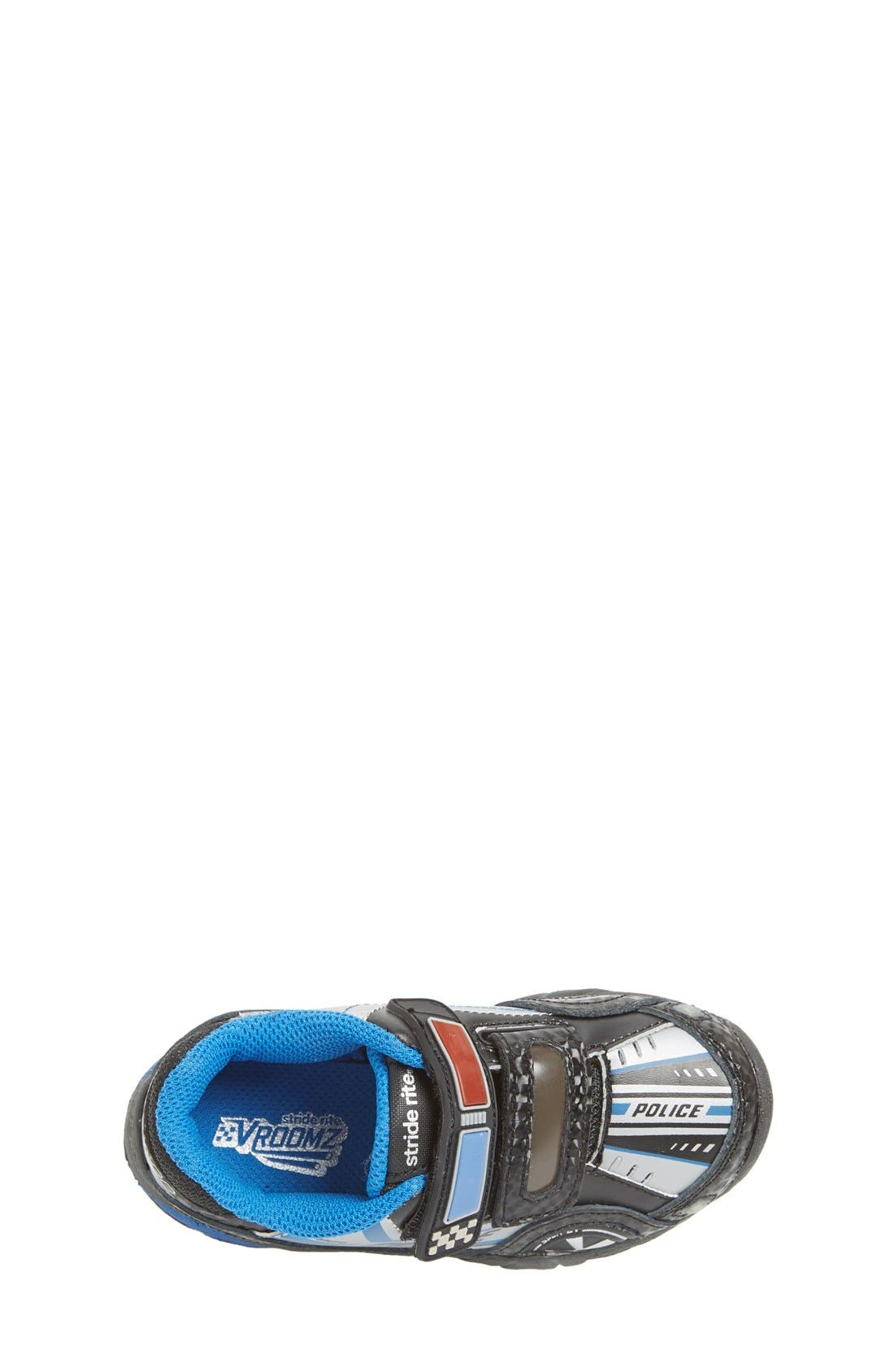 'Vroomz - Police Car' Light-Up Sneaker,                             Alternate thumbnail 2, color,                             001