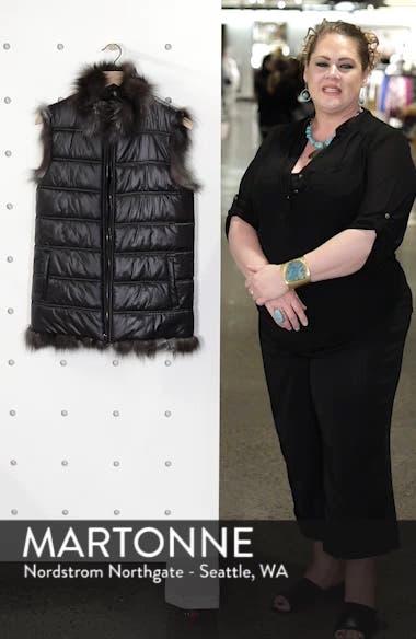 Reversible Genuine Silver Fox Fur Vest, sales video thumbnail