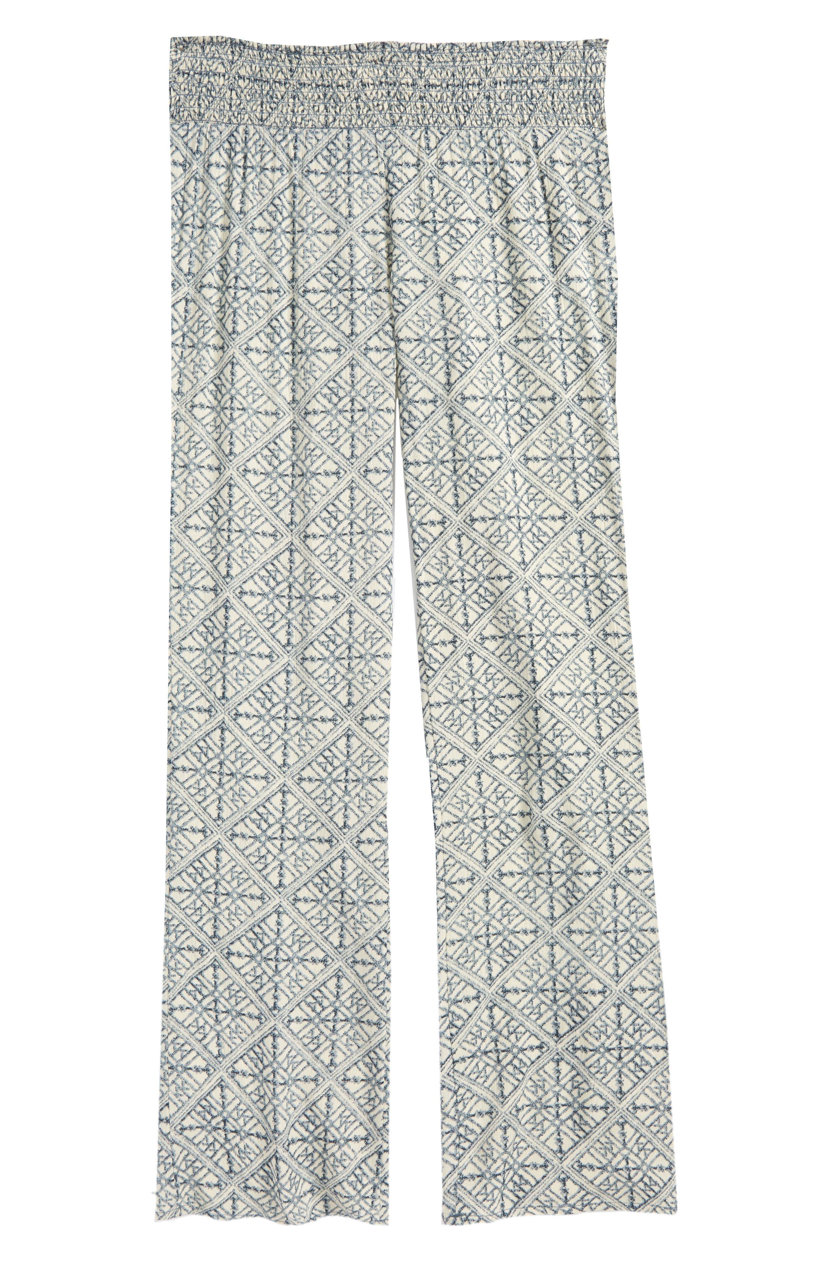 Girls ONeill Joanna Geo Print Pants Size M (810)  Blue
