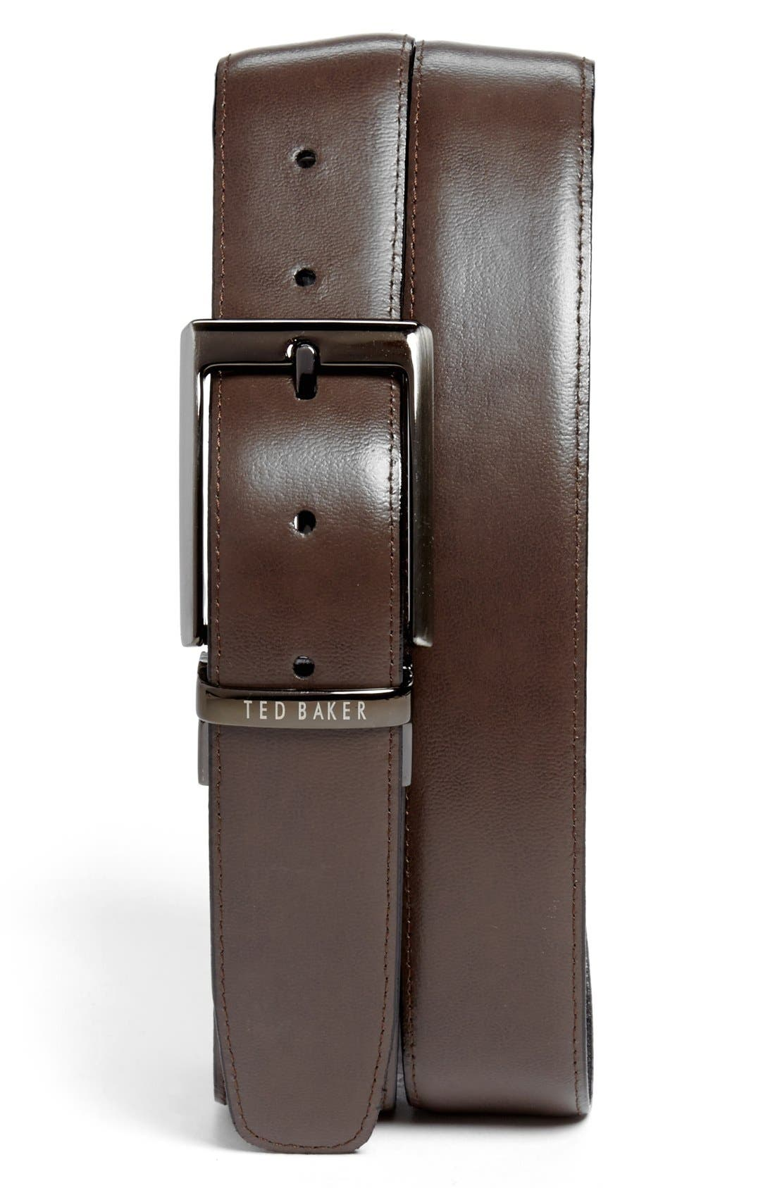 Stitched Reversible Belt,                             Main thumbnail 2, color,