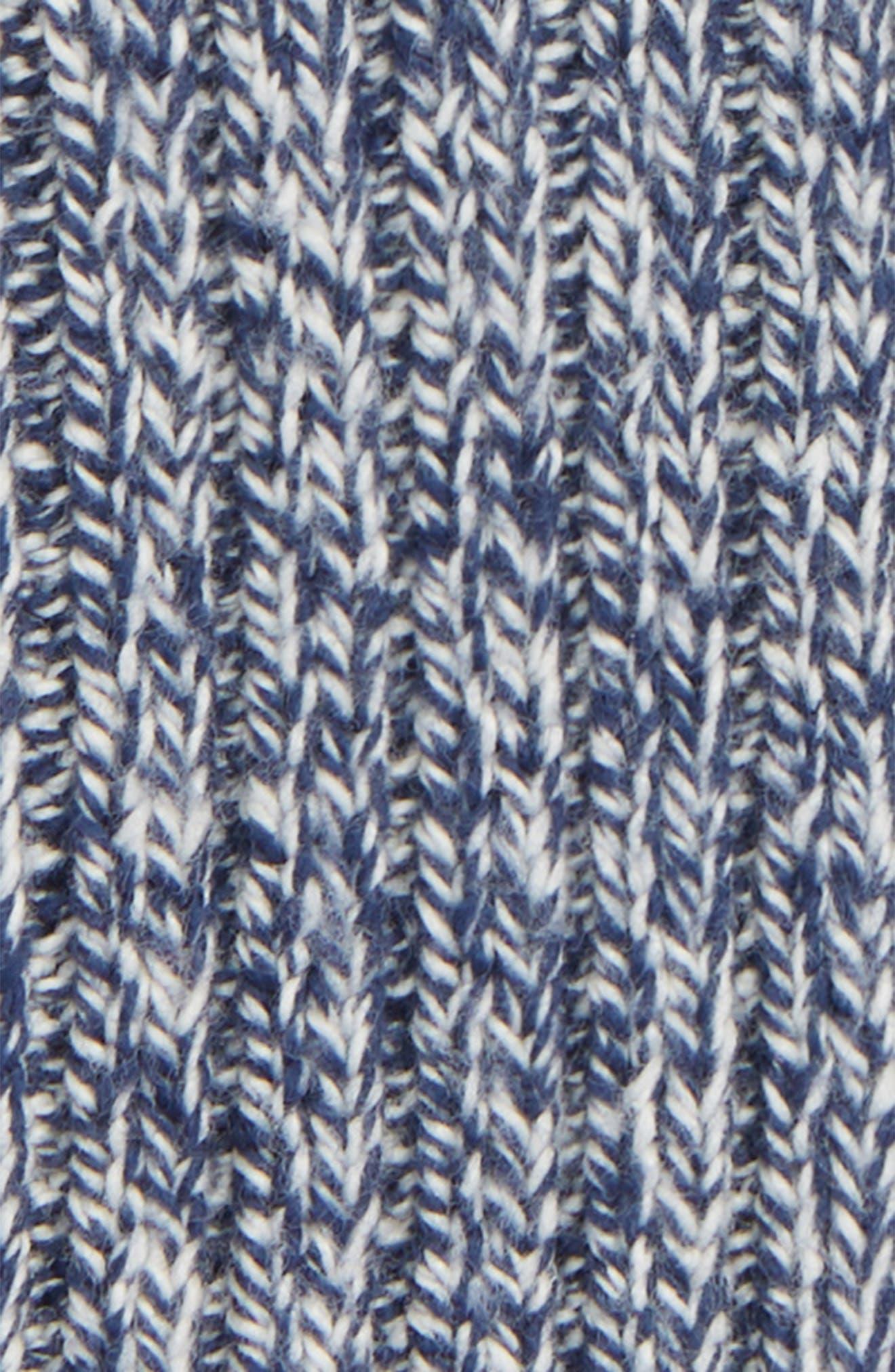 Perfect Textured Rib Beanie,                             Alternate thumbnail 2, color,                             MOONLESS NIGHT MULTI