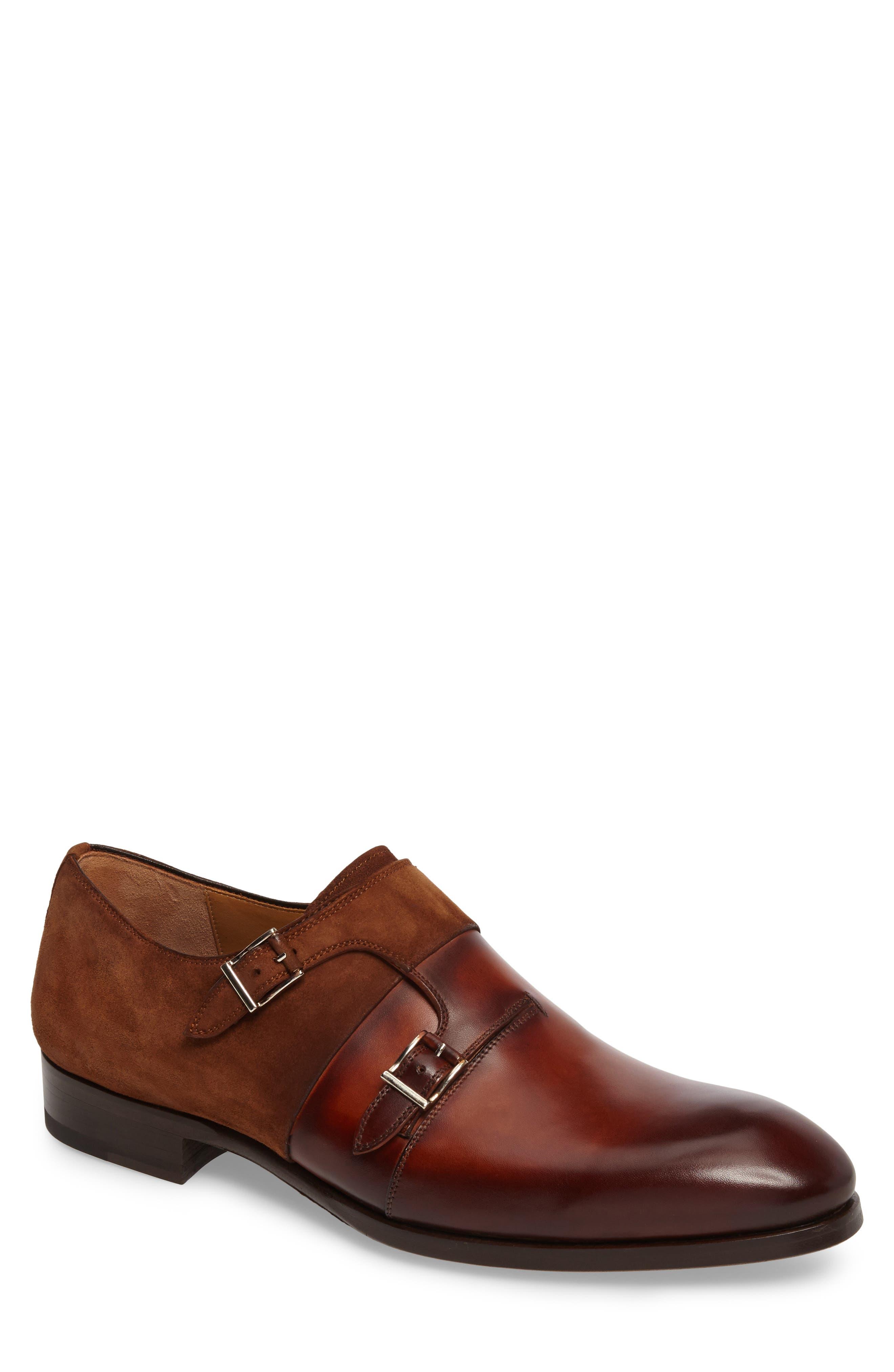 Orville Double Monk Strap Shoe,                             Main thumbnail 1, color,                             219