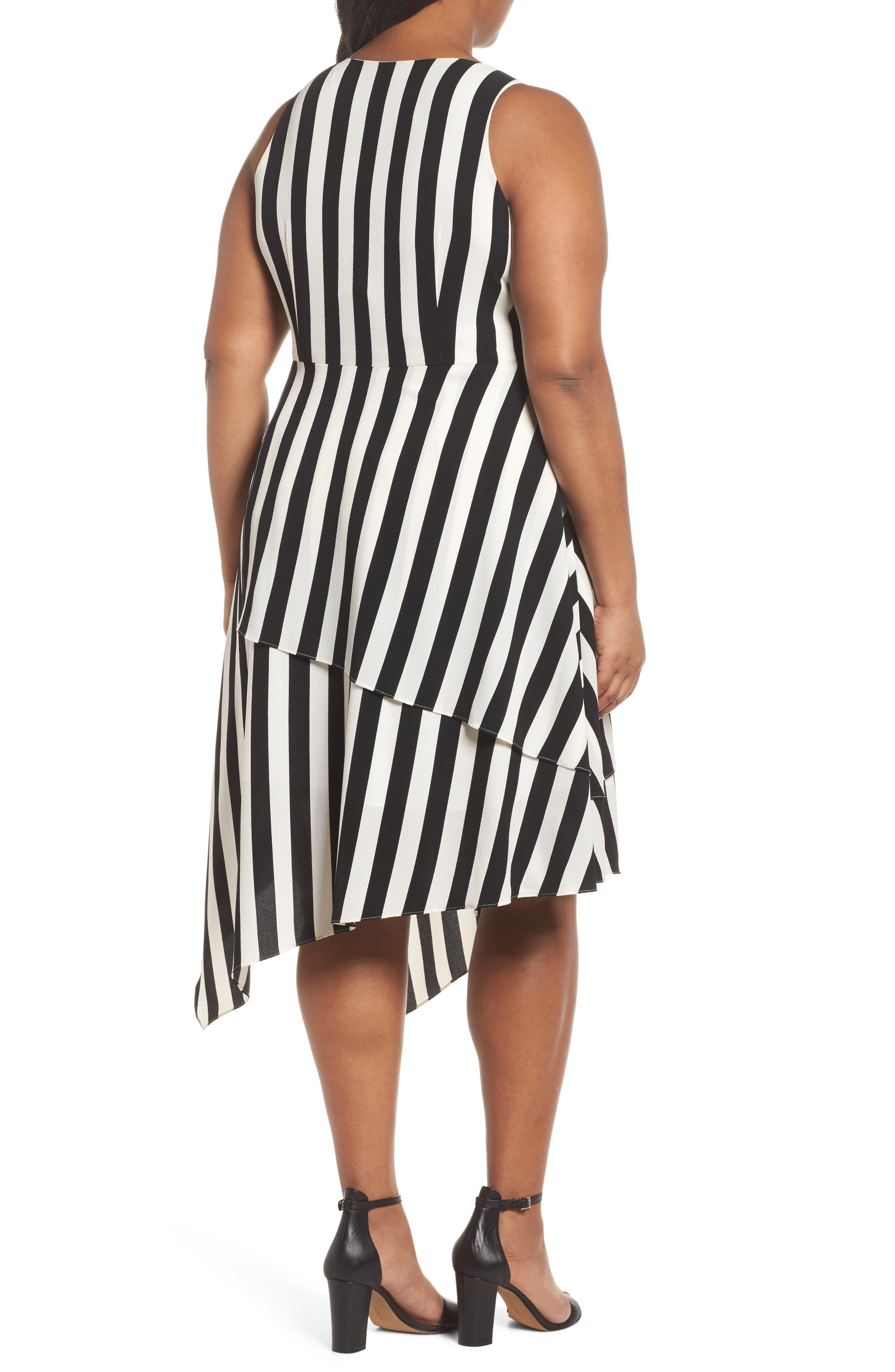 Spectator Asymmetrical Hem Dress,                             Alternate thumbnail 2, color,                             RICH BLACK
