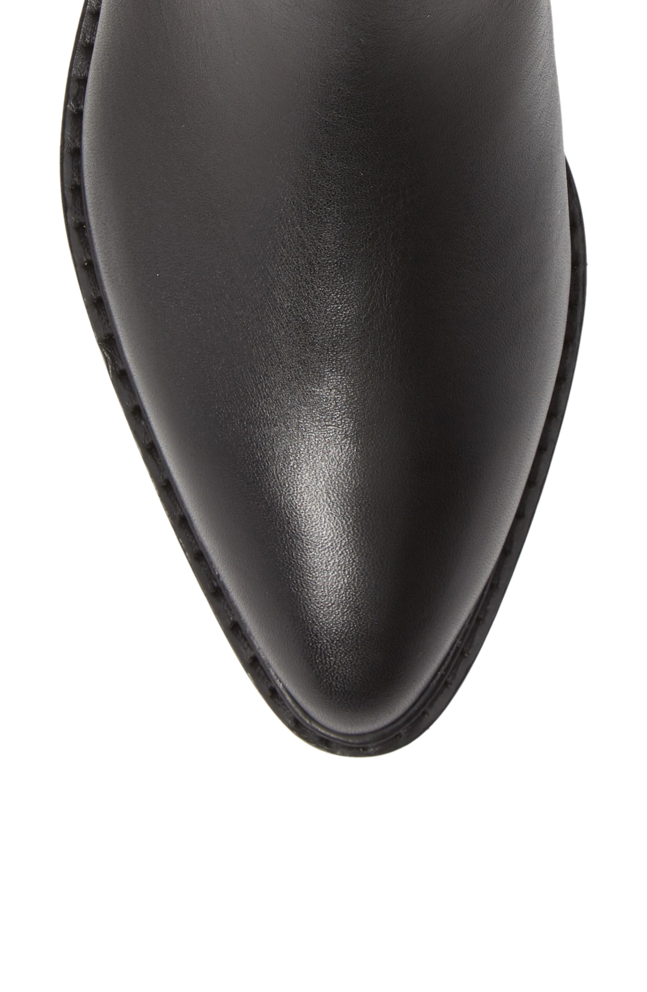 Bowery Chelsea Bootie,                             Alternate thumbnail 5, color,                             BLACK LEATHER