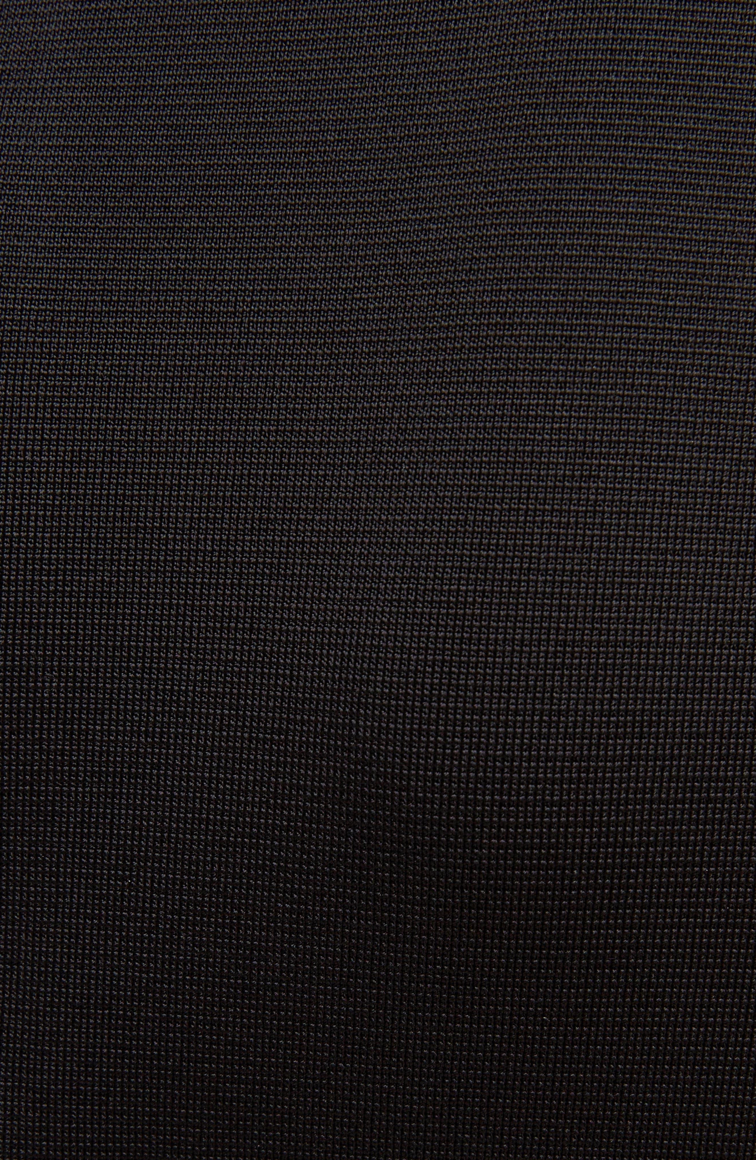 Two-Tone Punto Milano Dress,                             Alternate thumbnail 5, color,                             BLACK/ WHITE