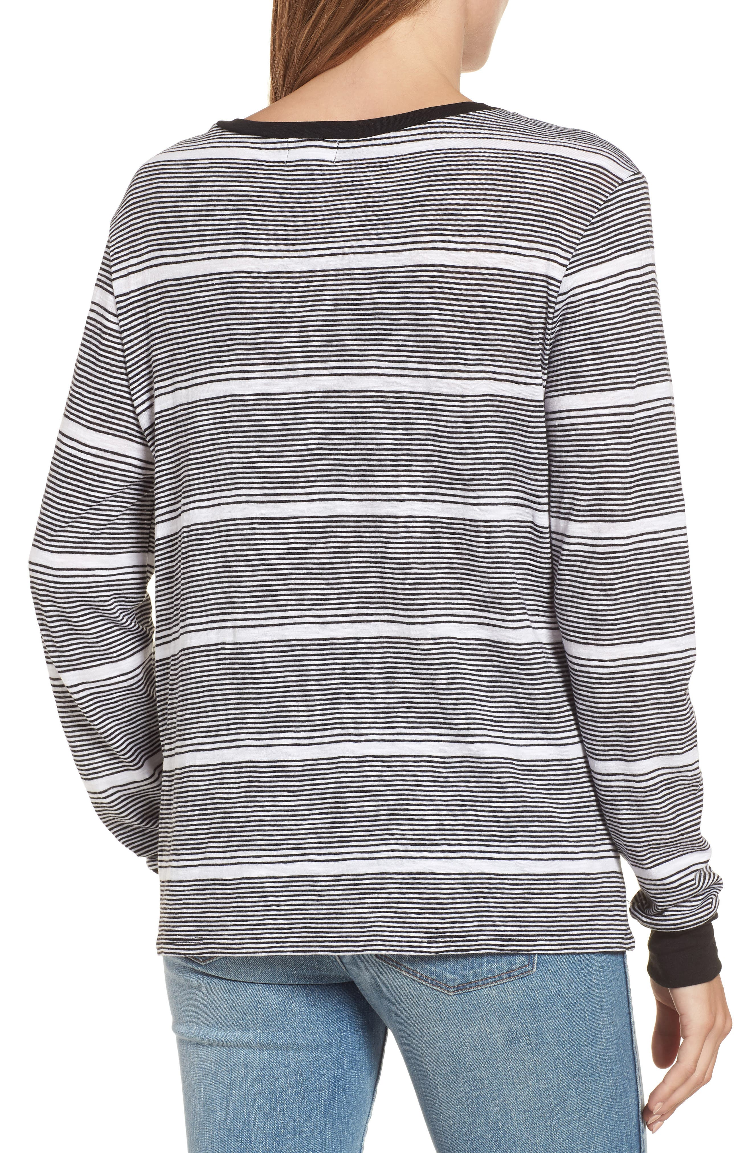 CASLON<SUP>®</SUP>,                             Twist Front Long Sleeve Tee,                             Alternate thumbnail 2, color,                             001