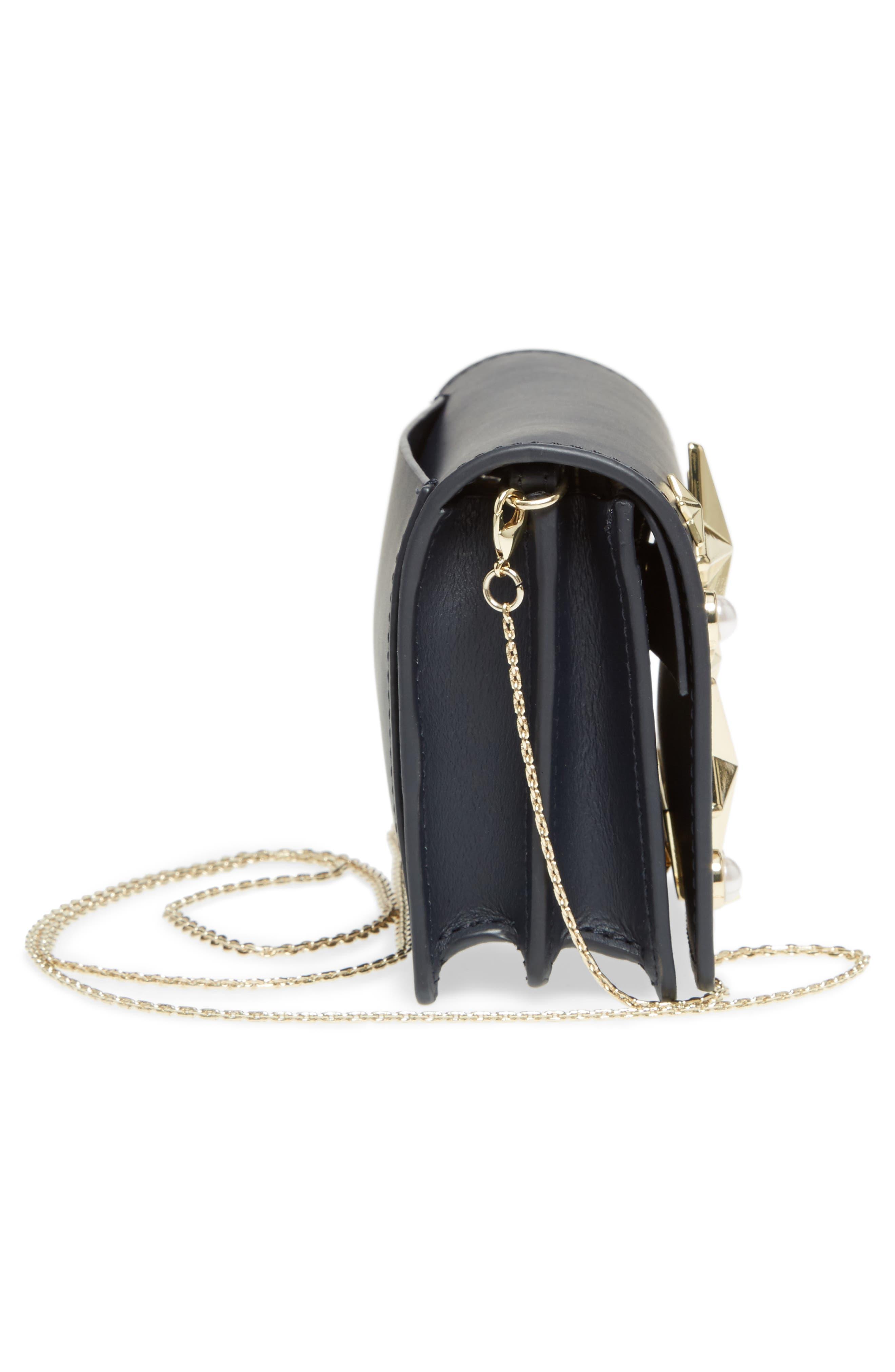 Earthette Leather Accordion Bag,                             Alternate thumbnail 5, color,                             410