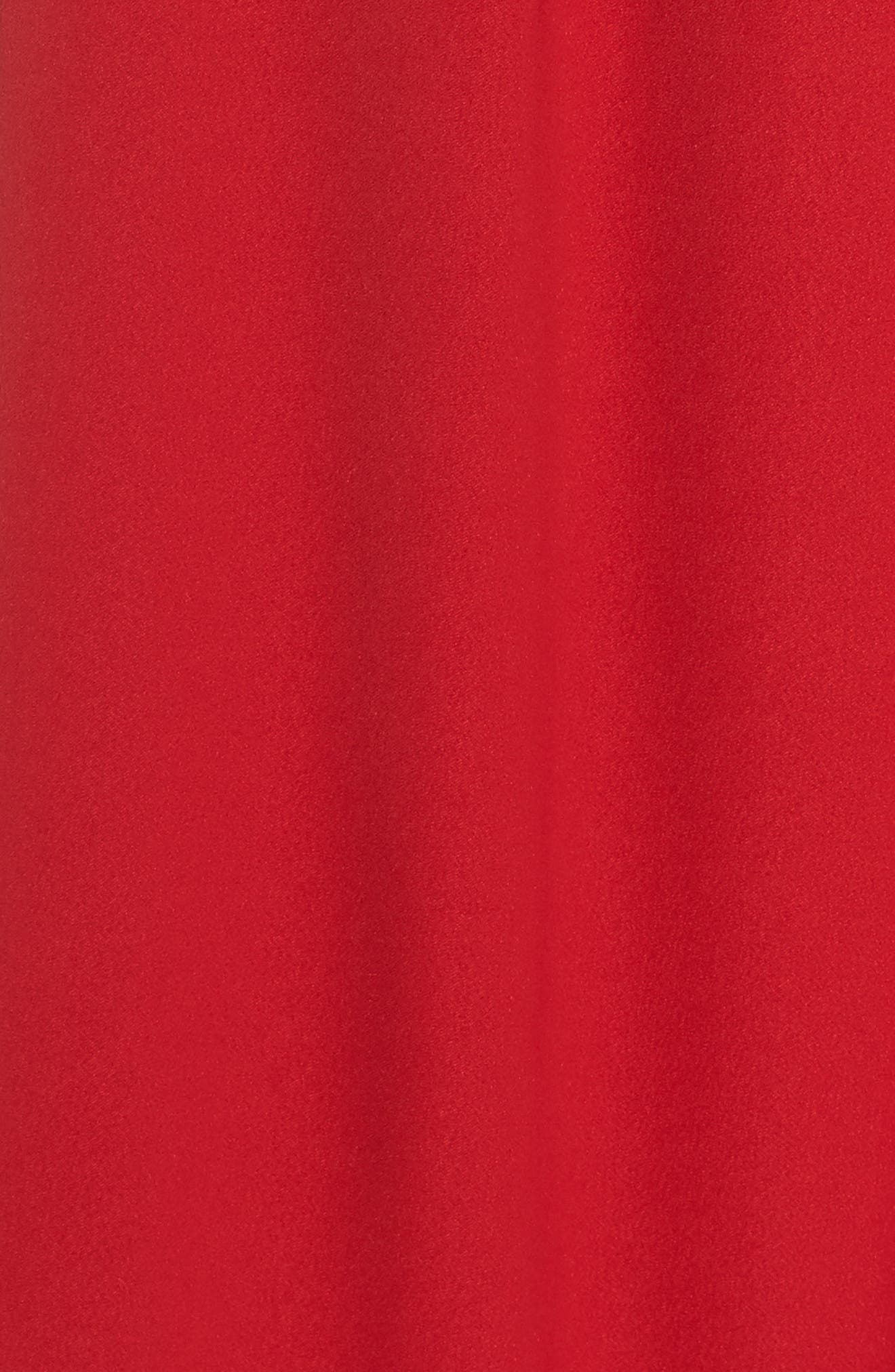 Strapless Crepe Jumpsuit,                             Alternate thumbnail 6, color,                             RED