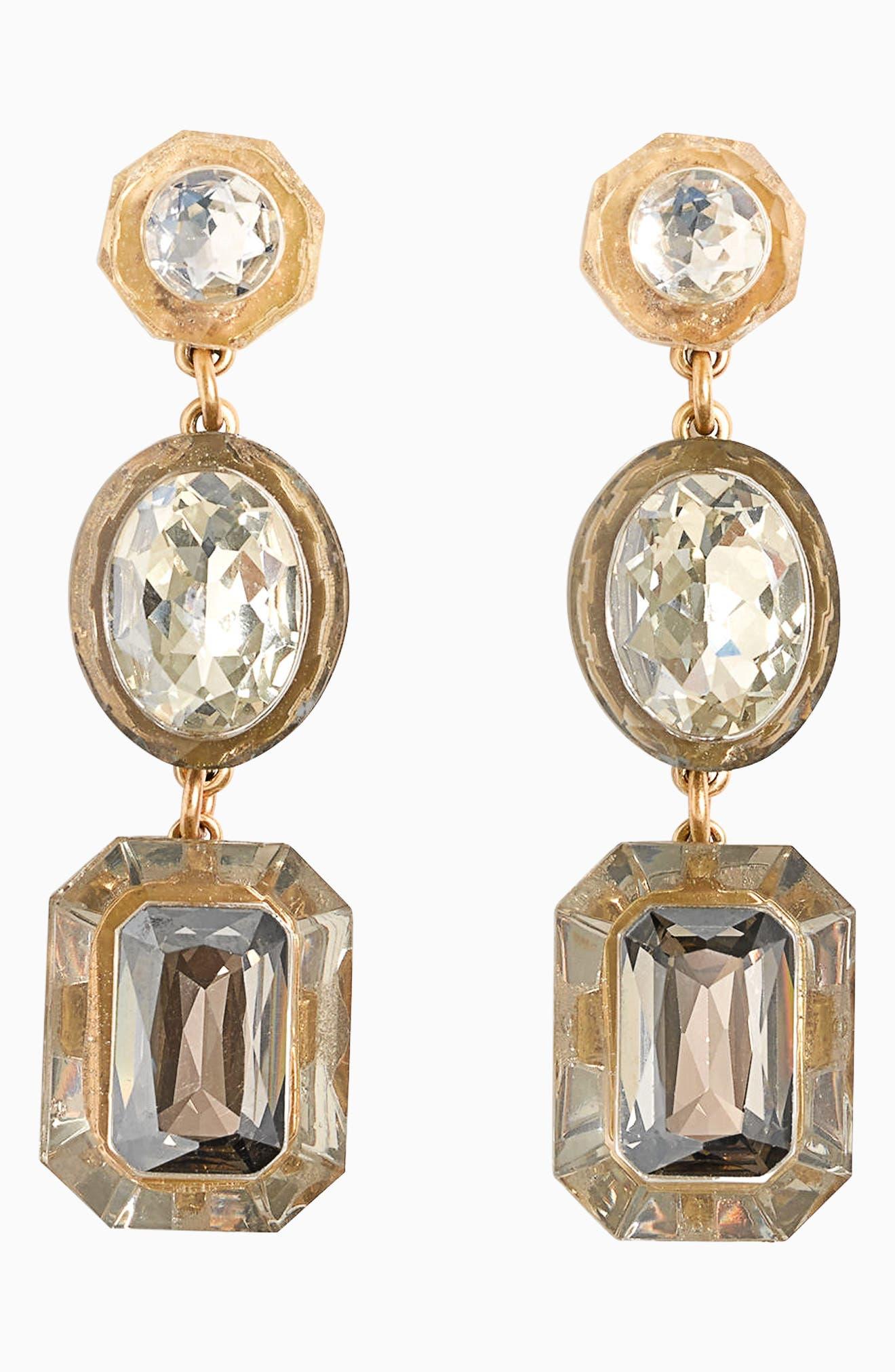 Drop Stone Earrings,                         Main,                         color, 020