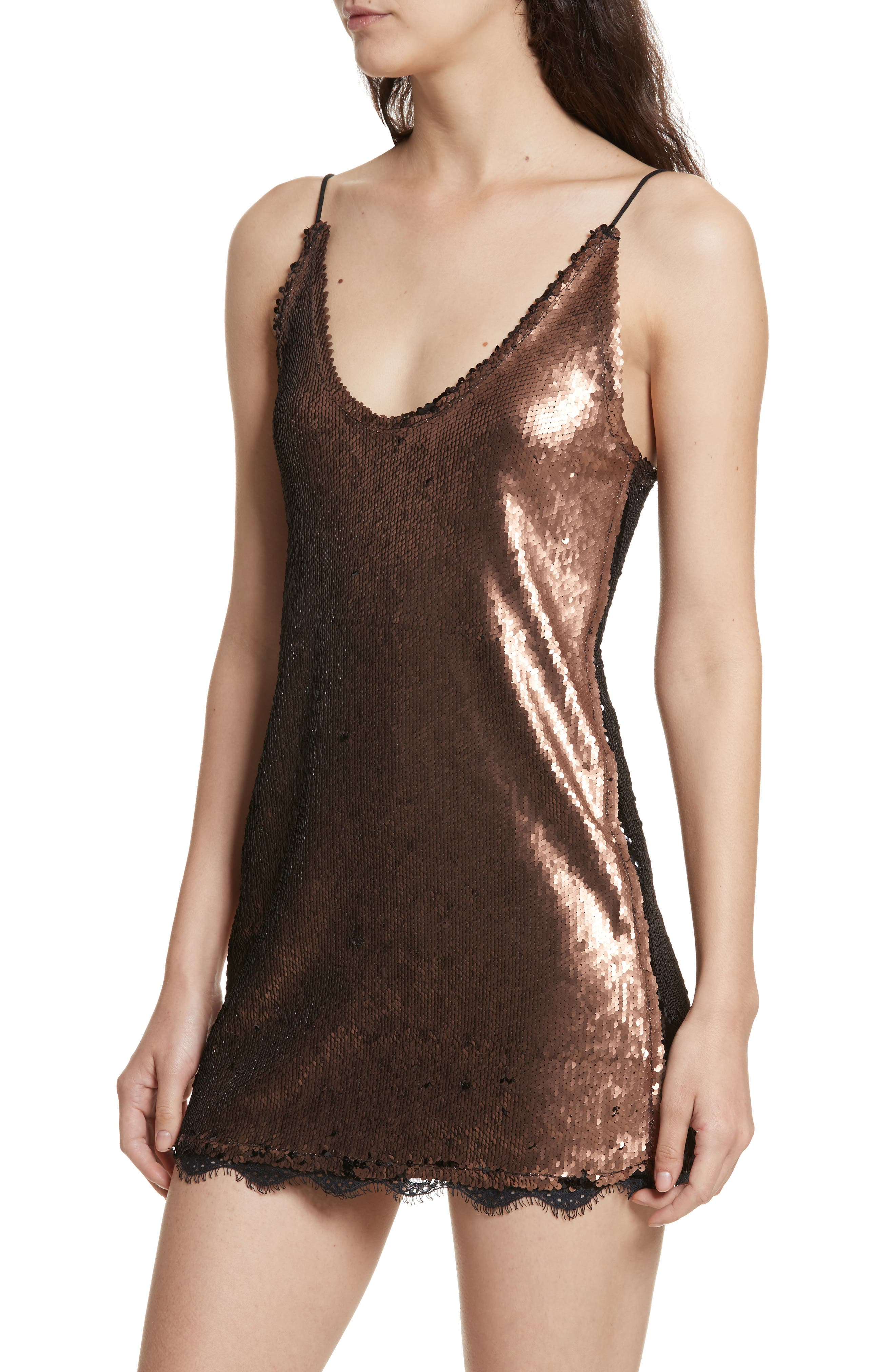 Seeing Double Sequin Slipdress,                             Alternate thumbnail 4, color,                             019