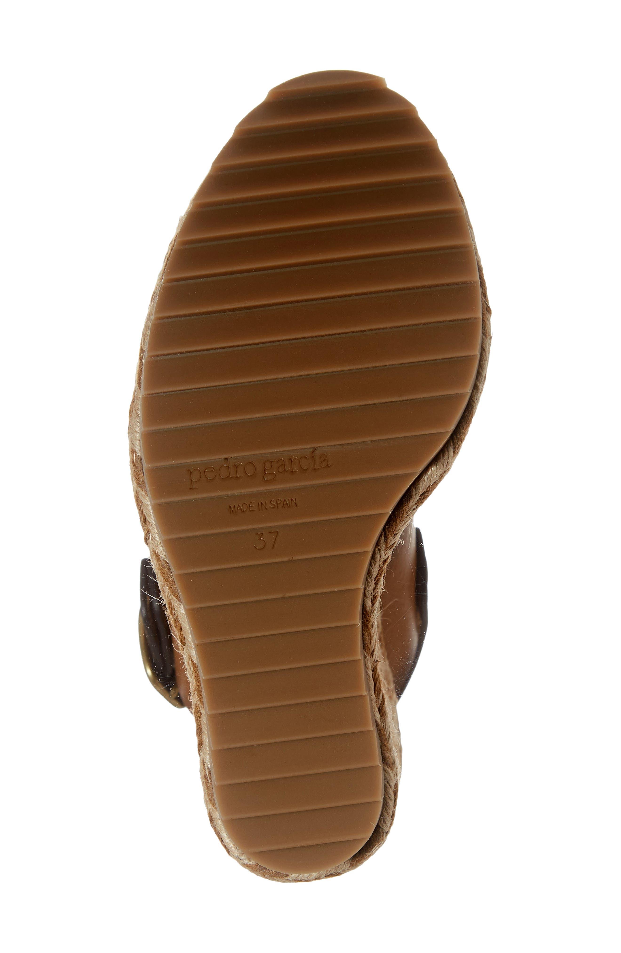 Tait Woven Wedge Sandal,                             Alternate thumbnail 6, color,                             CIGAR VACCHETTA