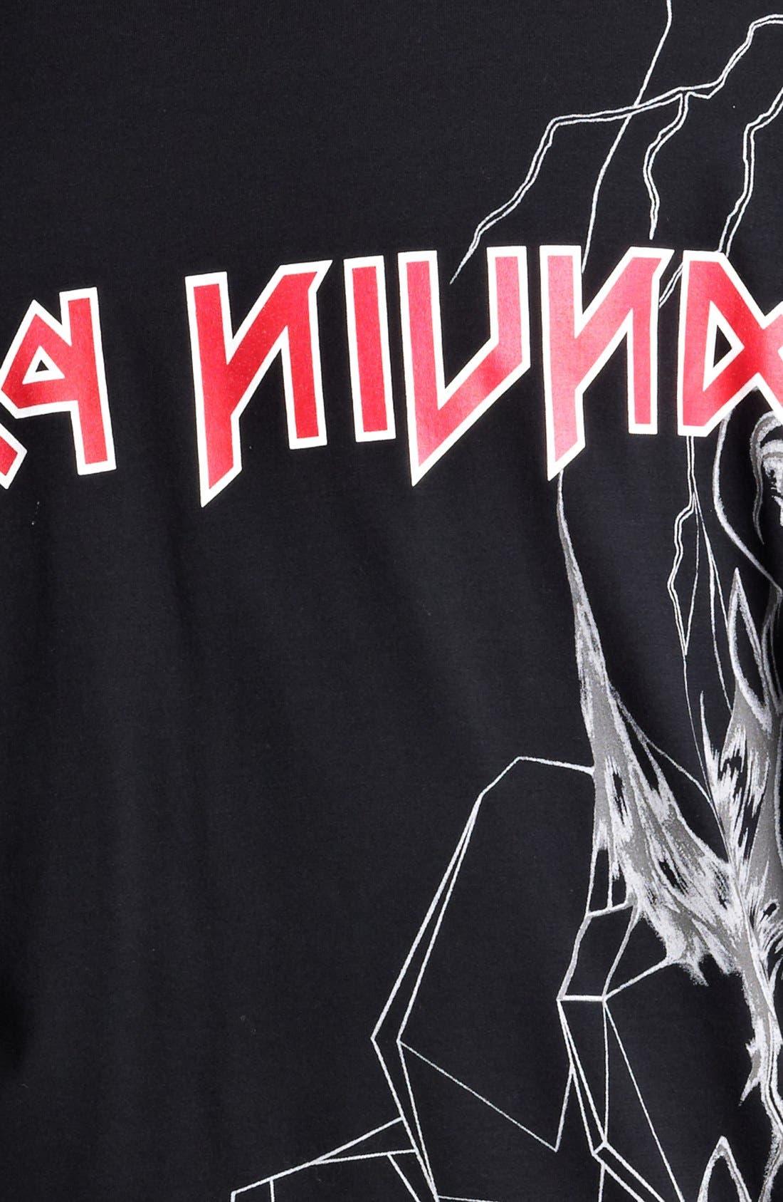 LANVIN,                             'Reverse Paris' Graphic T-Shirt,                             Alternate thumbnail 2, color,                             001