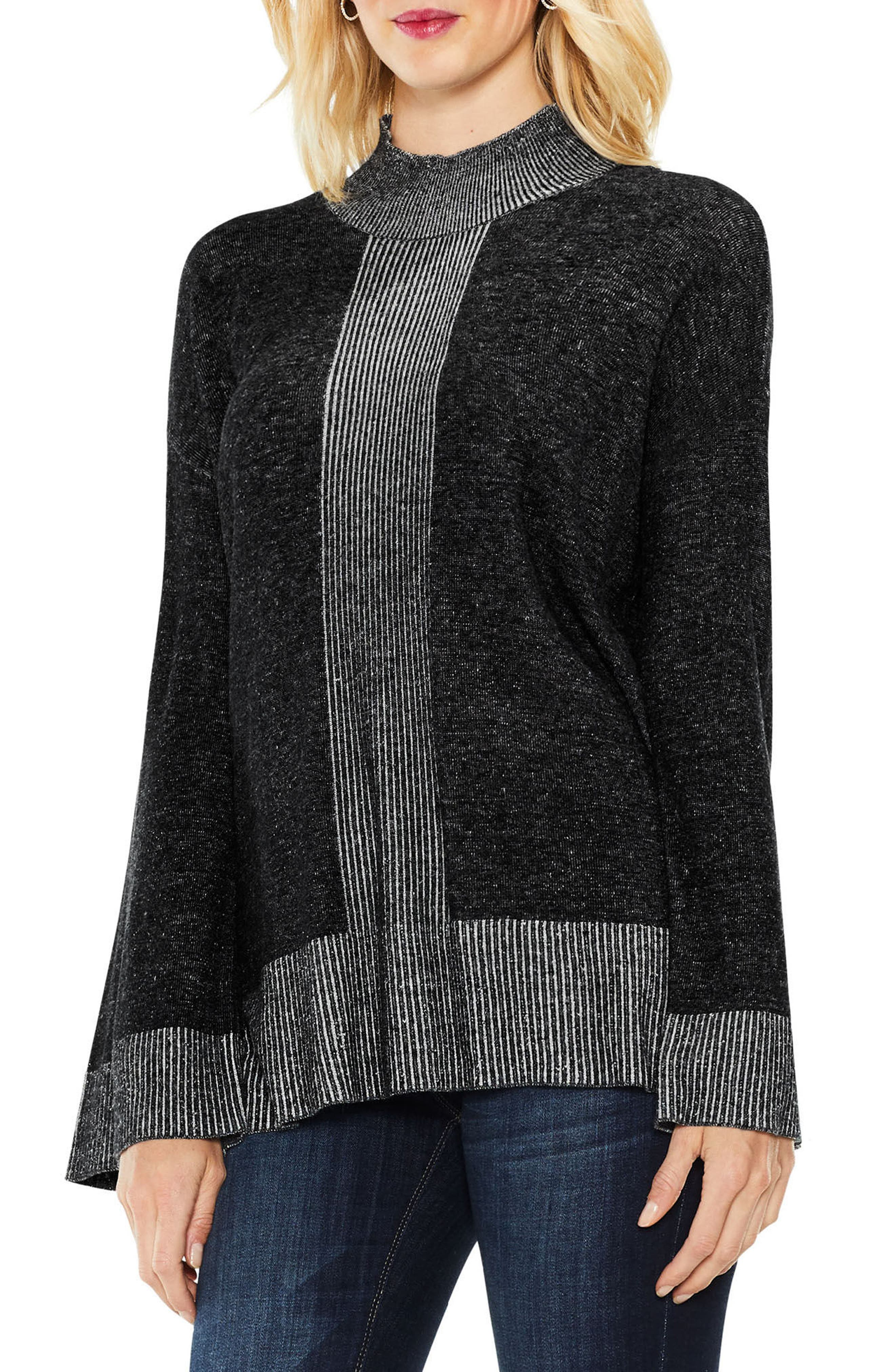 Two by Vince Camuto Ribbed Contrast Sweater,                             Main thumbnail 1, color,