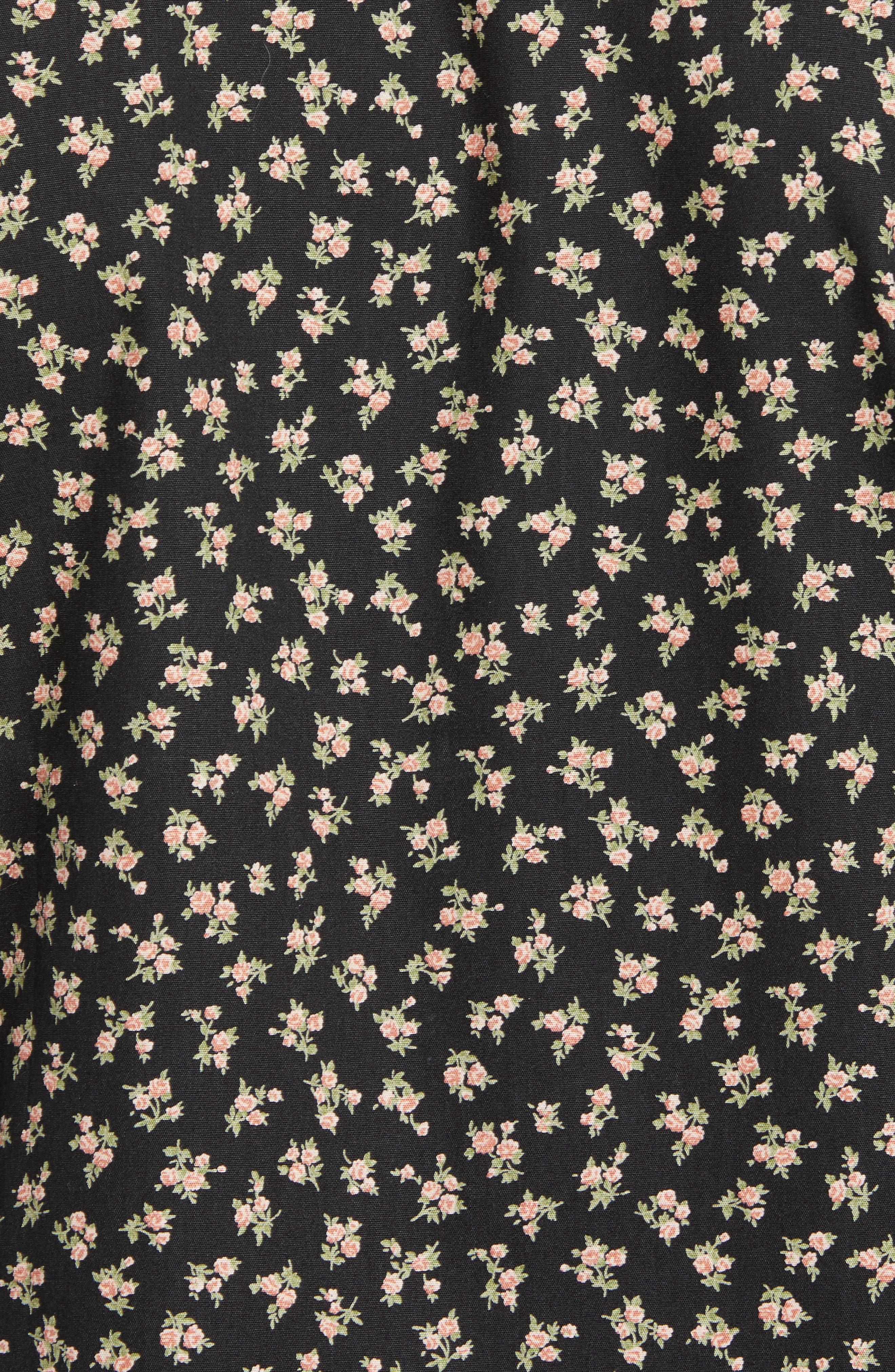 Vintage Flowers Print Shirt,                             Alternate thumbnail 5, color,                             001