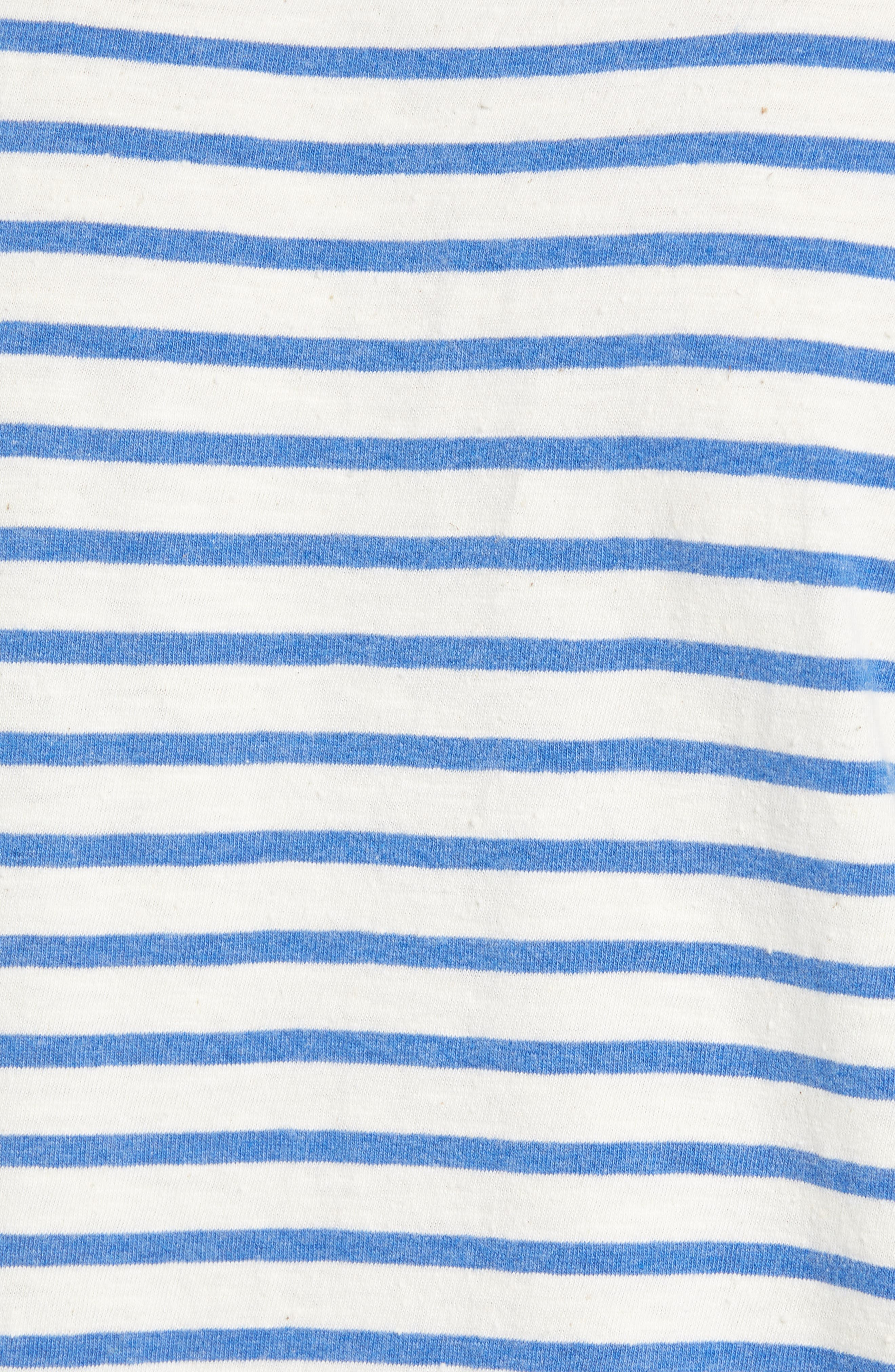 Stripe Pocket T-Shirt,                             Alternate thumbnail 5, color,                             110