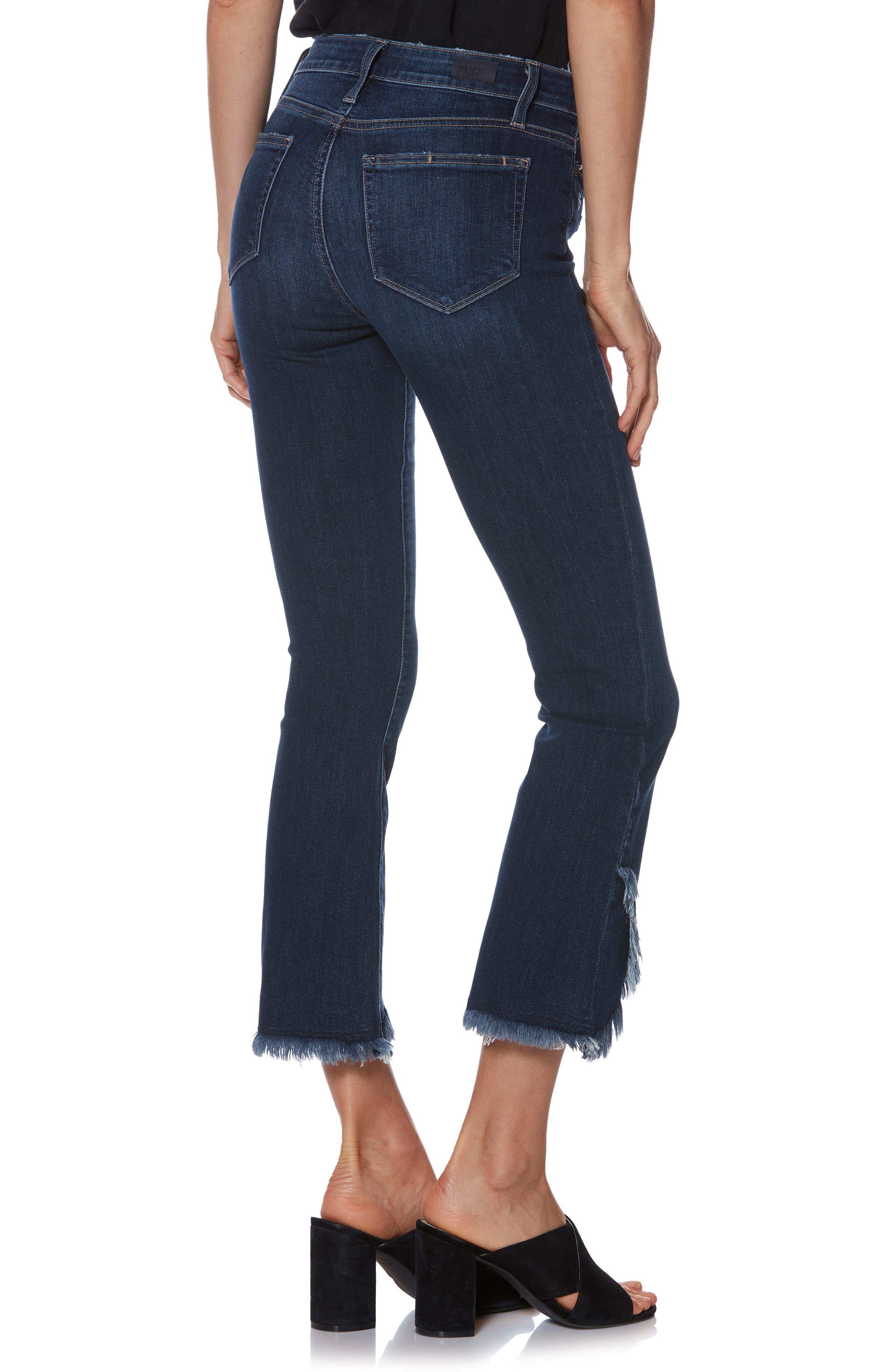 PAIGE,                             Transcend Vintage - Colette Frayed Crop Flare Jeans,                             Alternate thumbnail 2, color,                             PALMA